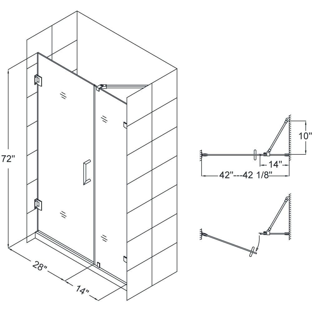 Shop DreamLine Unidoor Lux 41-inch Frameless Hinged Shower Door ...