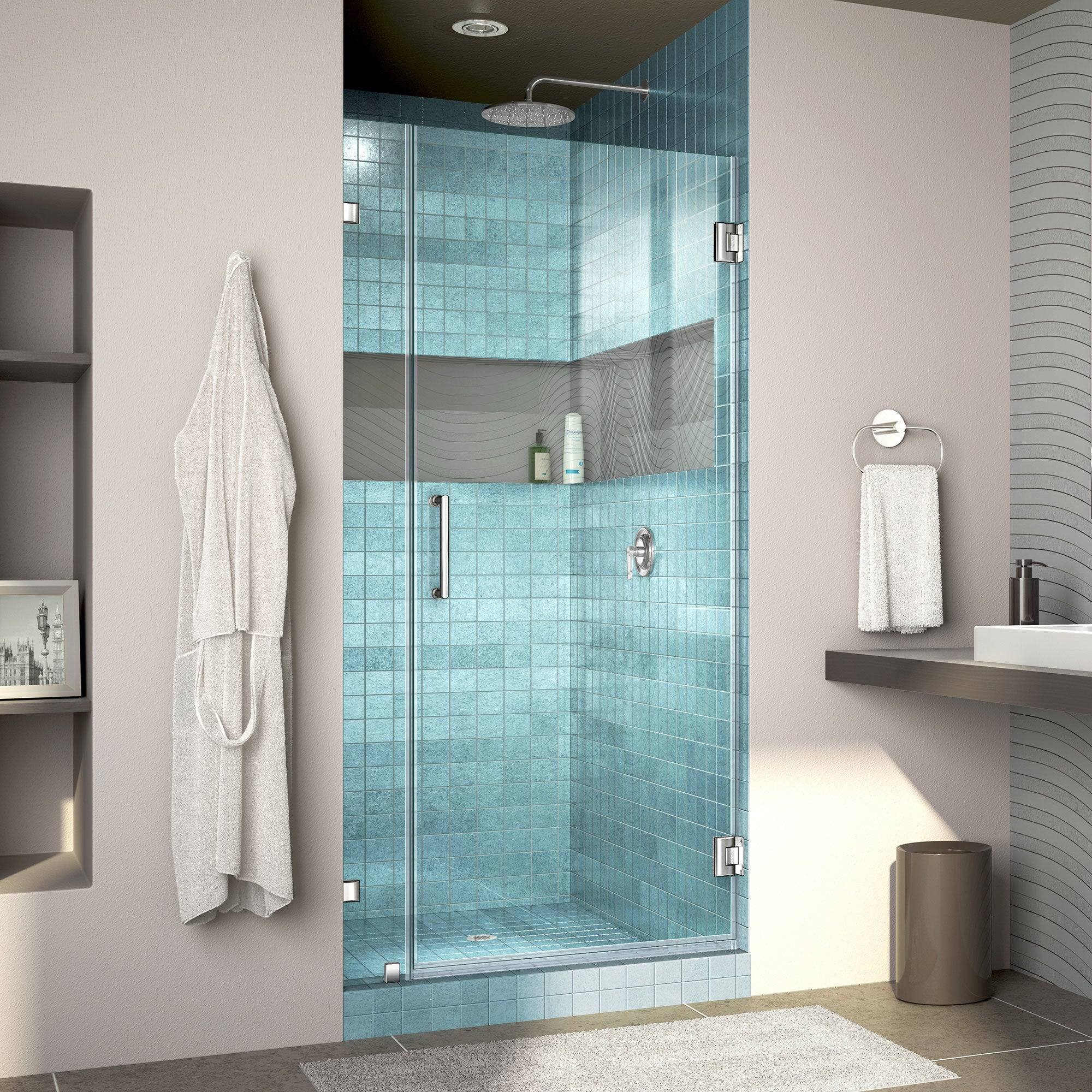 Shop DreamLine UnidoorLux Frameless Shower Door - Free Shipping ...