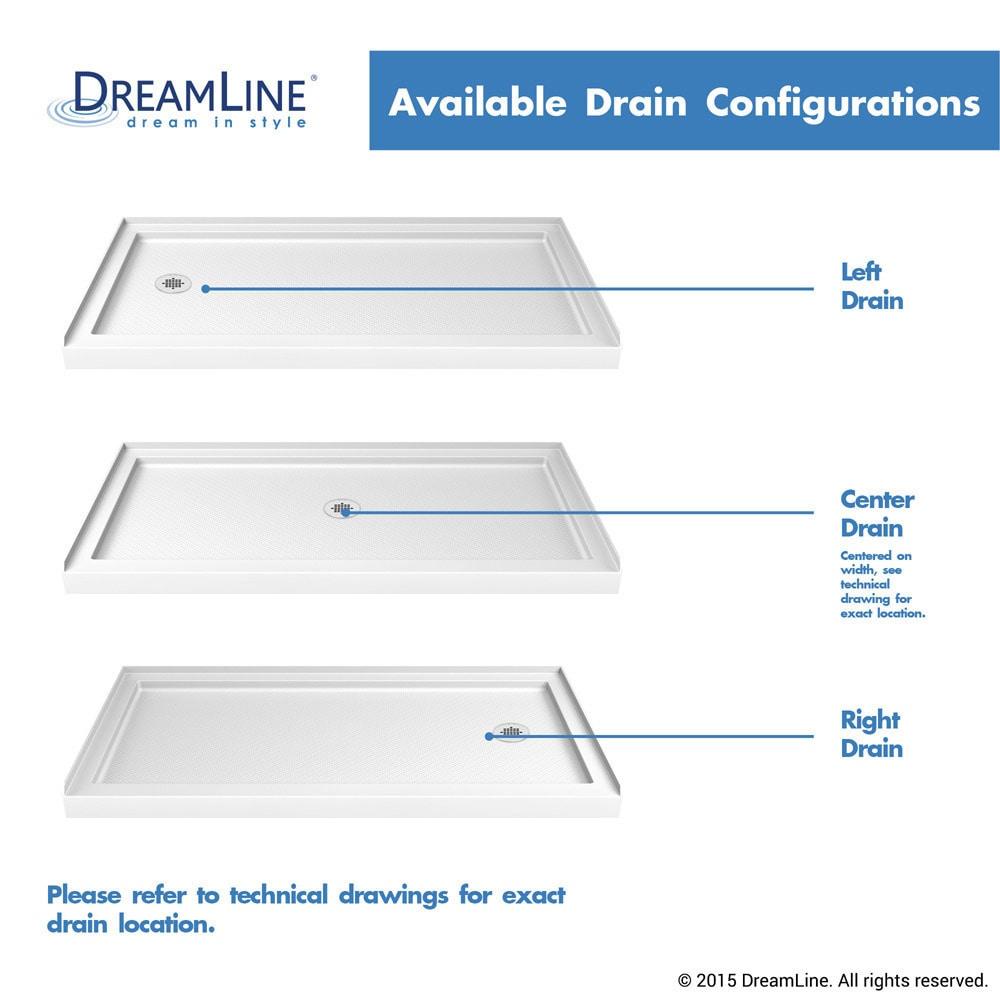 Shop Dreamline Slimline 30 In D X 60 In W X 2 3 4 In H Single