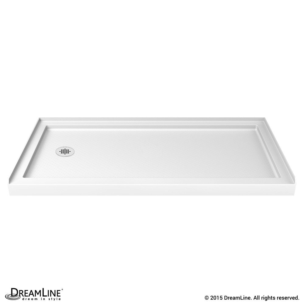 Shop dreamline slimline 36 in by 60 in single threshold shower base 34 x 60 free shipping today overstock com 7510844