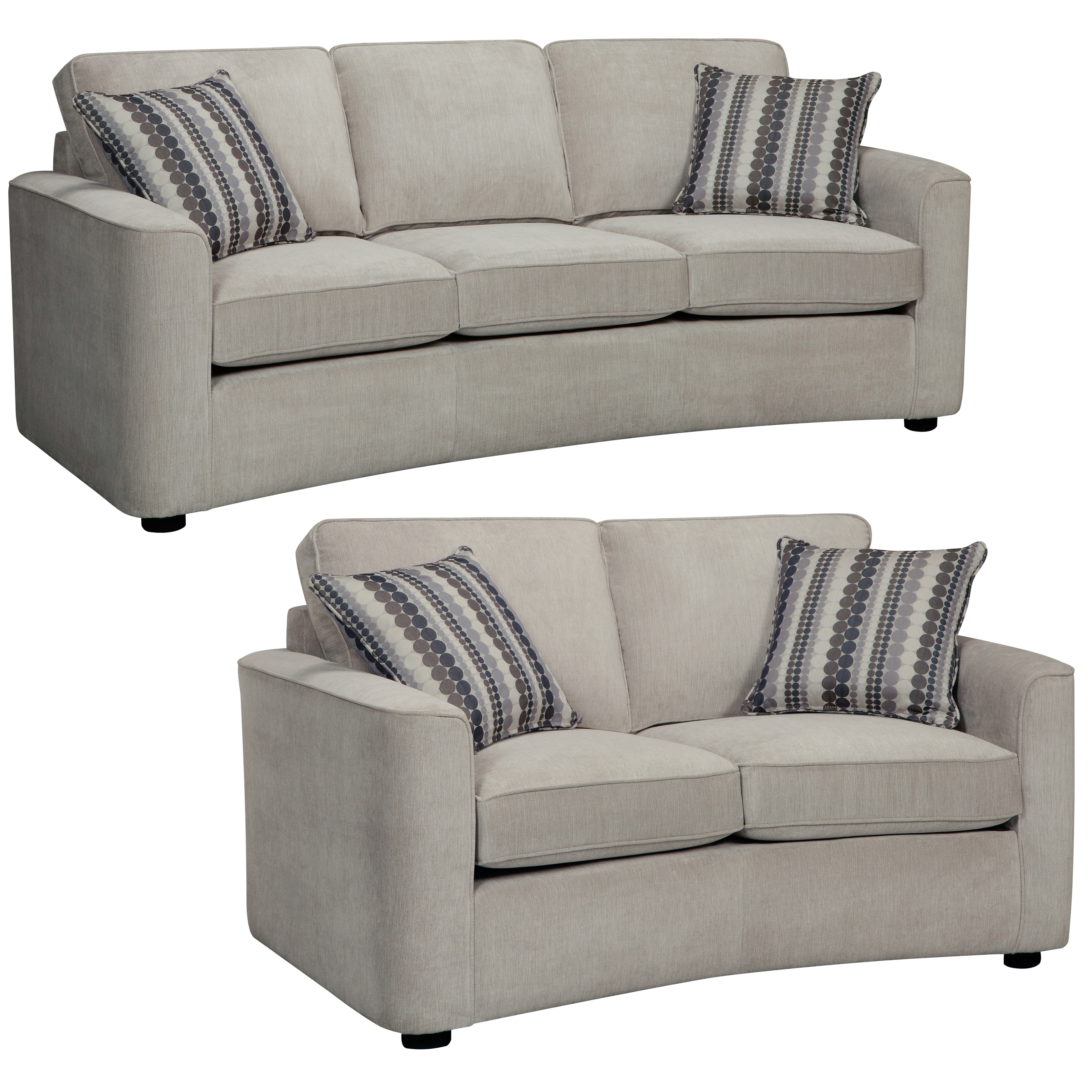 Shop Marley Light Gray Sofa and Loveseat - Free Shipping Today - Overstock - 7516917