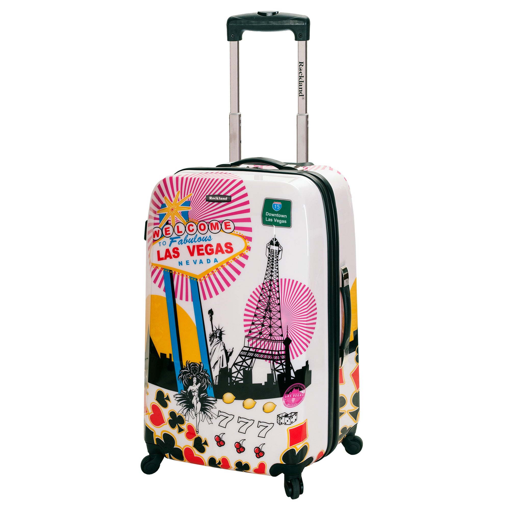 Rockland Las Vegas 20 Inch Lightweight Hardside Spinner Carry On Luggage Free Shipping Today 14961277