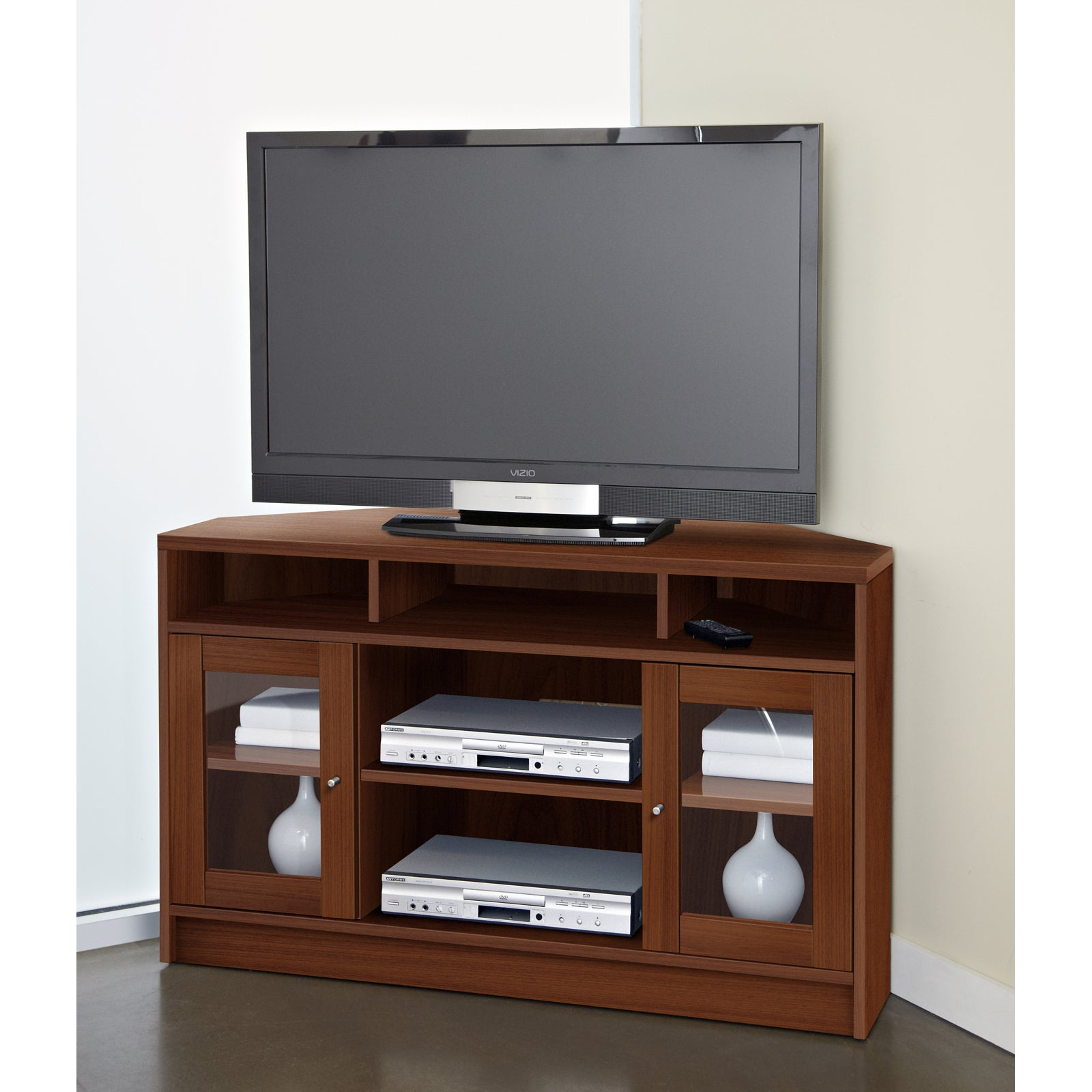 Shop Jesper Office Corner Tv Stand Free Shipping Today Overstock
