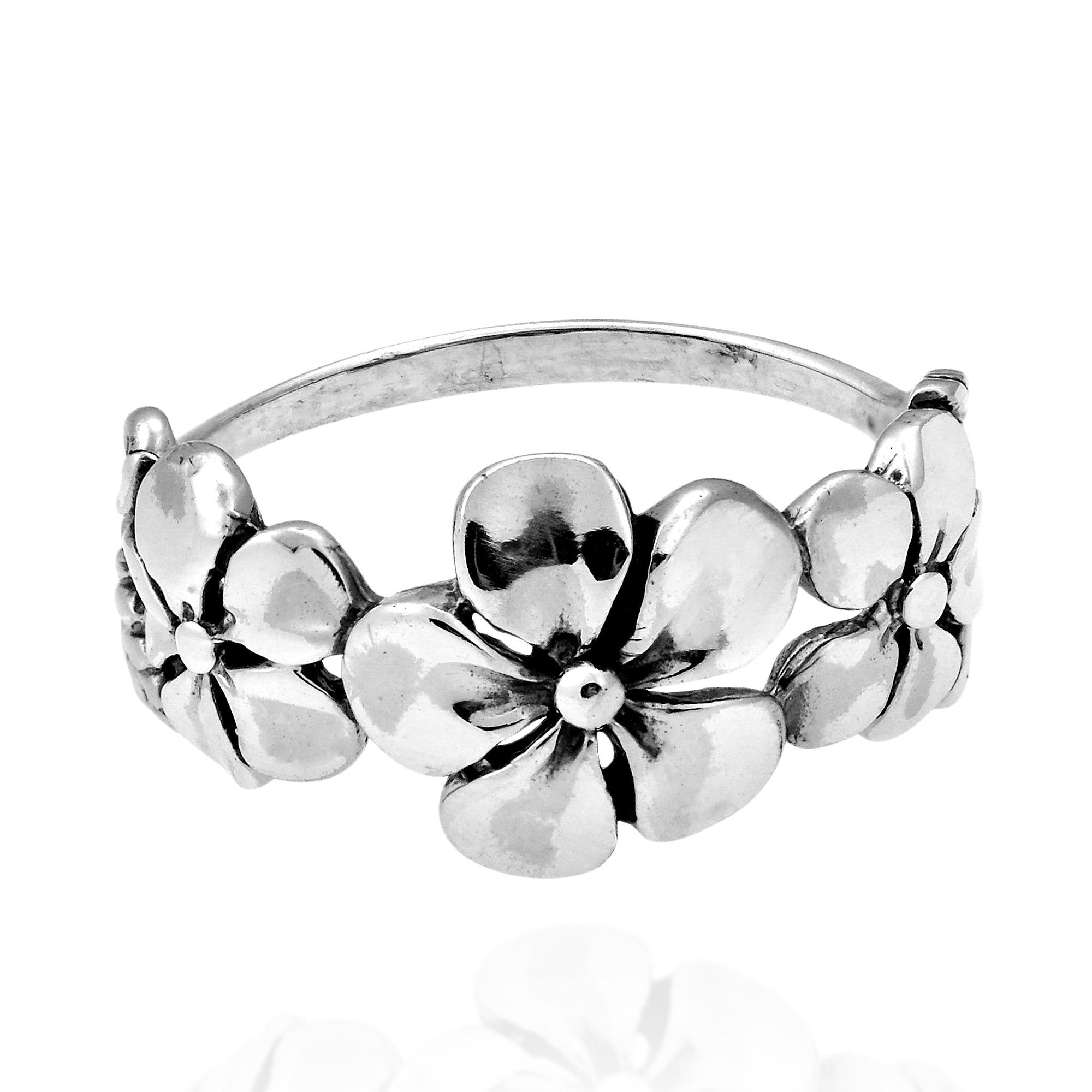 Shop handmade hawaiian triple flower sterling silver ring thailand shop handmade hawaiian triple flower sterling silver ring thailand on sale free shipping on orders over 45 overstock 7524087 izmirmasajfo