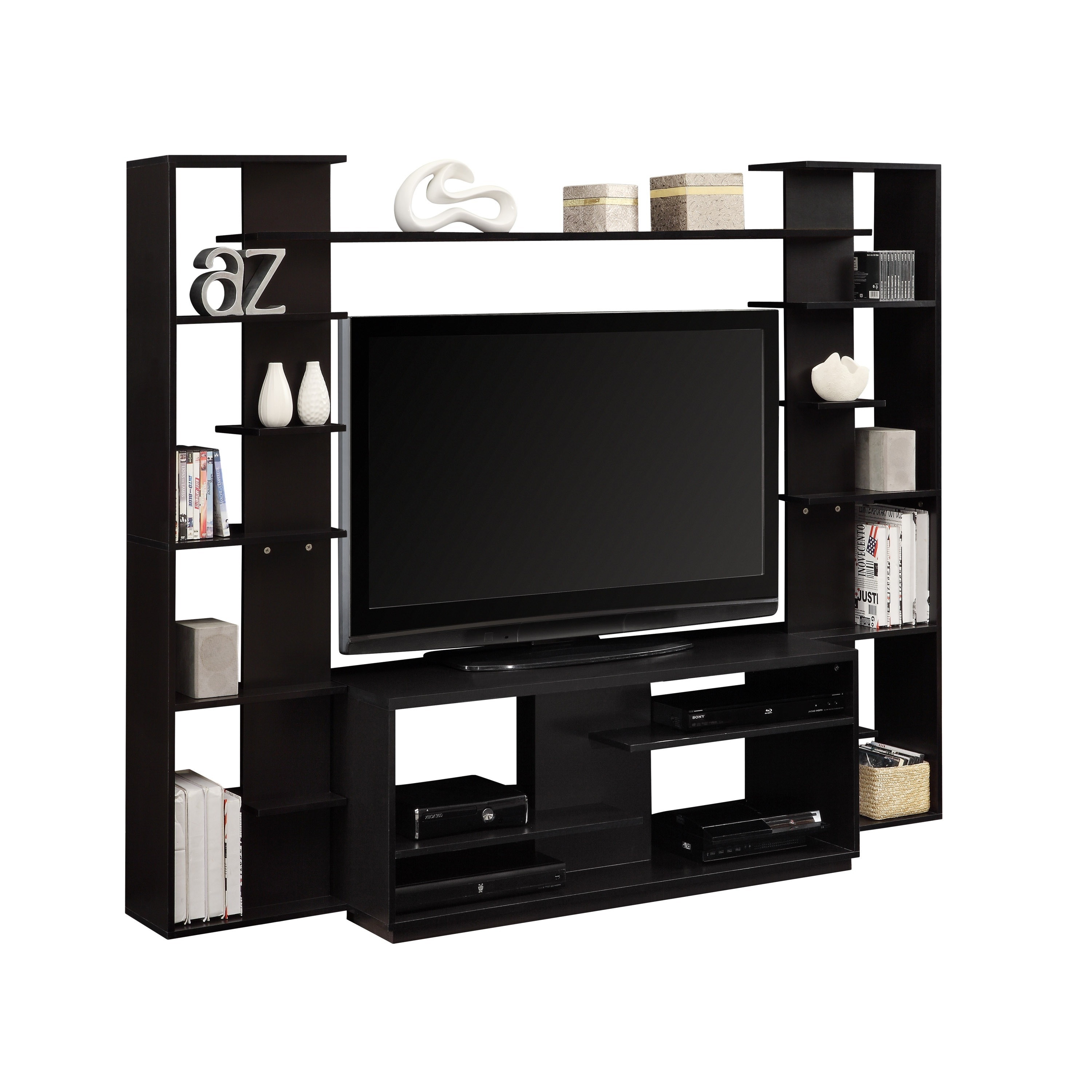 Altra Home Entertainment Center With Reversible Back Panel Free Shipping Today 7539347