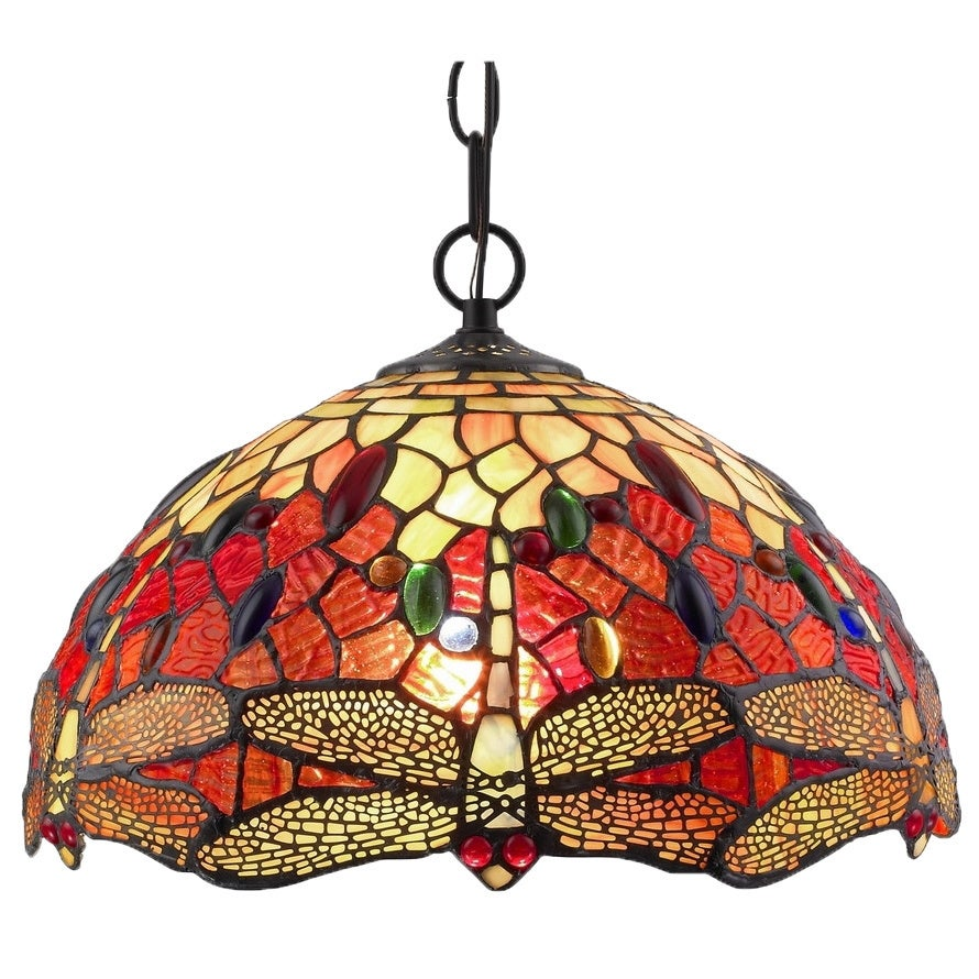 Tiffany style dragonfly hanging lamp free shipping today tiffany style dragonfly hanging lamp free shipping today overstock 14976919 arubaitofo Choice Image