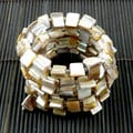 Handmade Mother of Pearl Wrap Bracelet Ivory (China)