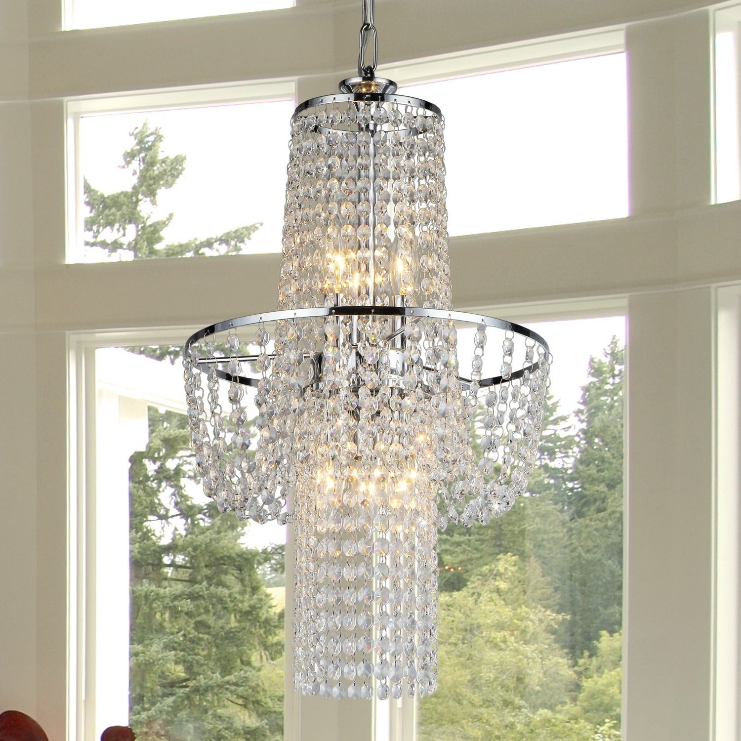 Charlotte crystal chandelier free shipping today overstock charlotte crystal chandelier free shipping today overstock 14980854 arubaitofo Image collections