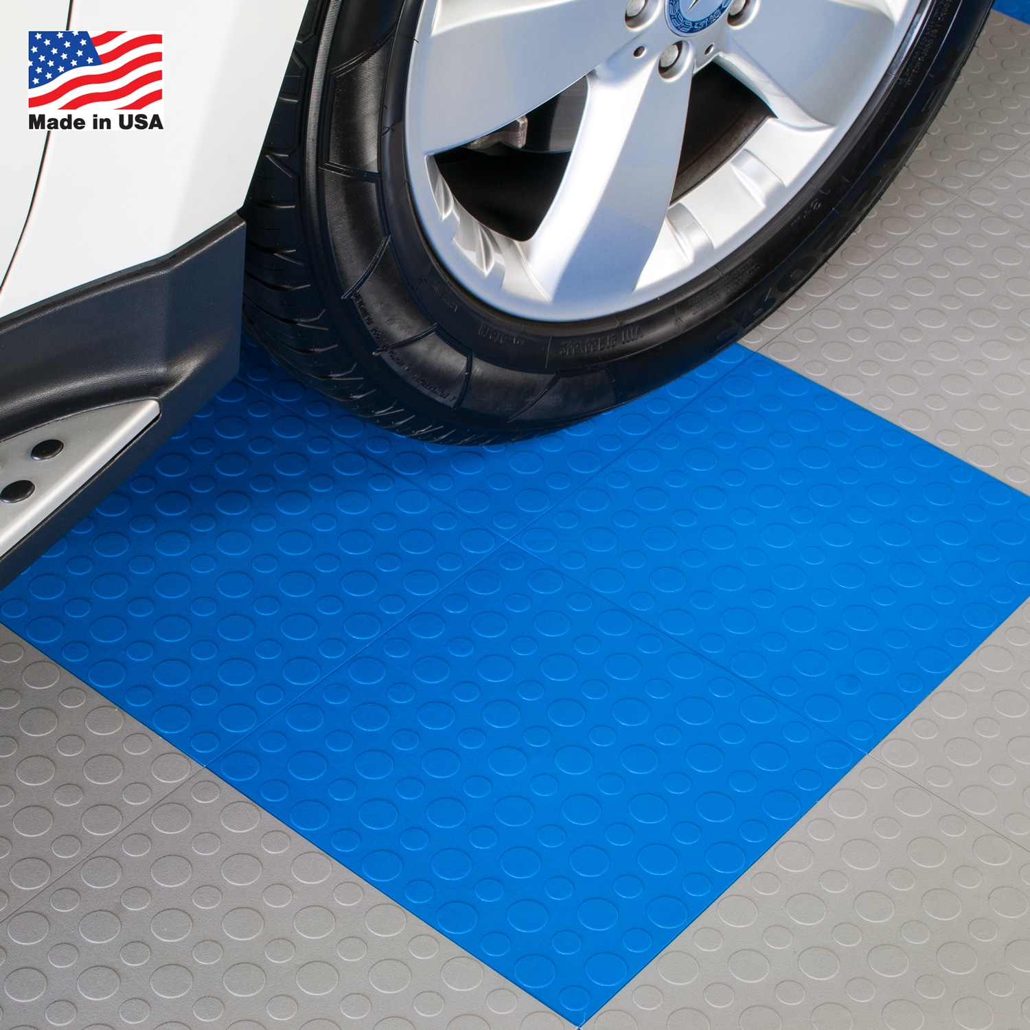 BlockTile Garage Flooring Interlocking Coin Top Tiles (Pack of 30 ...