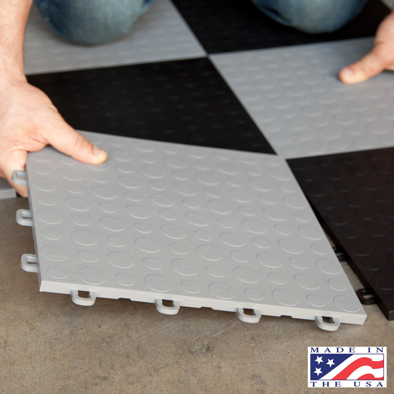 Blocktile garage flooring interlocking coin top tiles pack of 30 blocktile garage flooring interlocking coin top tiles pack of 30 free shipping today overstock 14981039 dailygadgetfo Choice Image