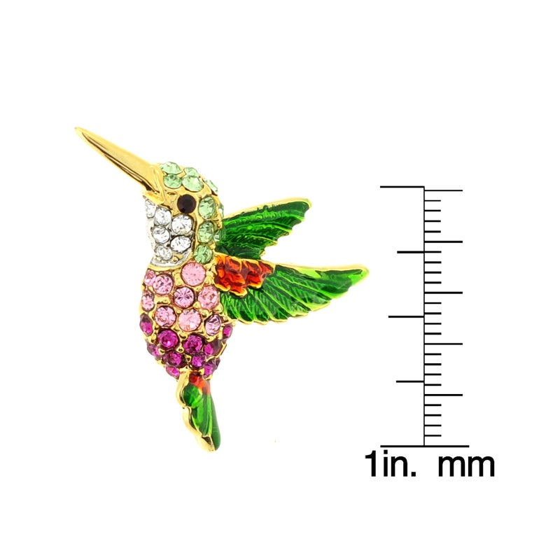 Beautiful Shop Goldtone Multi Colored Austrian Crystal Hummingbird Brooch   On Sale    Free Shipping On Orders Over $45   Overstock.com   7547571