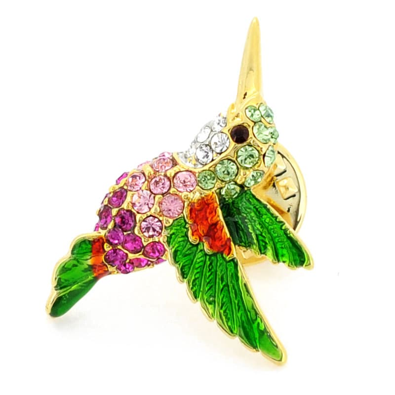 Shop Goldtone Multi Colored Austrian Crystal Hummingbird Brooch   On Sale    Free Shipping On Orders Over $45   Overstock.com   7547571
