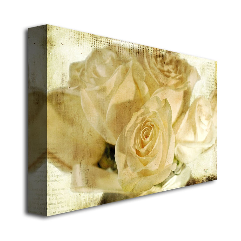 Shop Lois Bryan \'White Rose\'s\' Canvas Art - On Sale - Free Shipping ...
