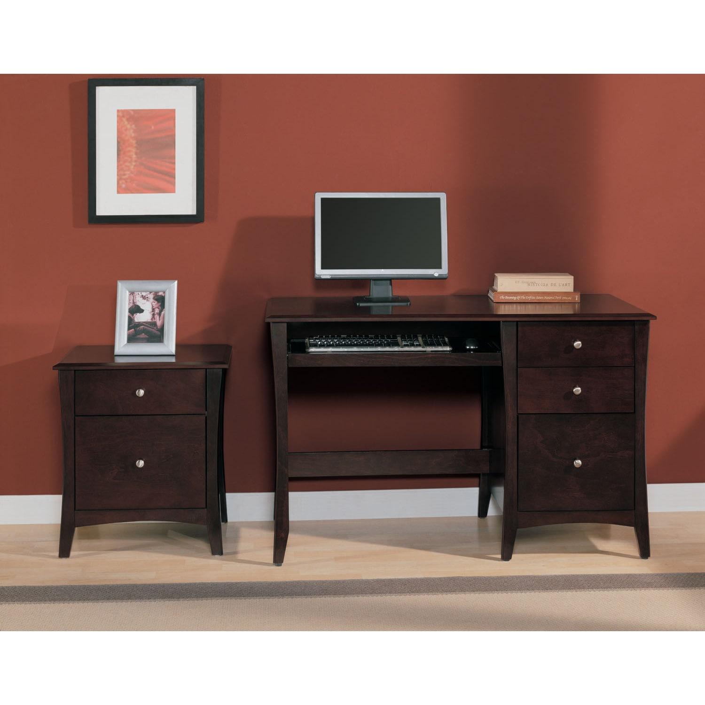 shop altra astute single pedestal desk and file cabinet set free rh overstock com Computer Desk with File Cabinet DIY File Cabinet Desk