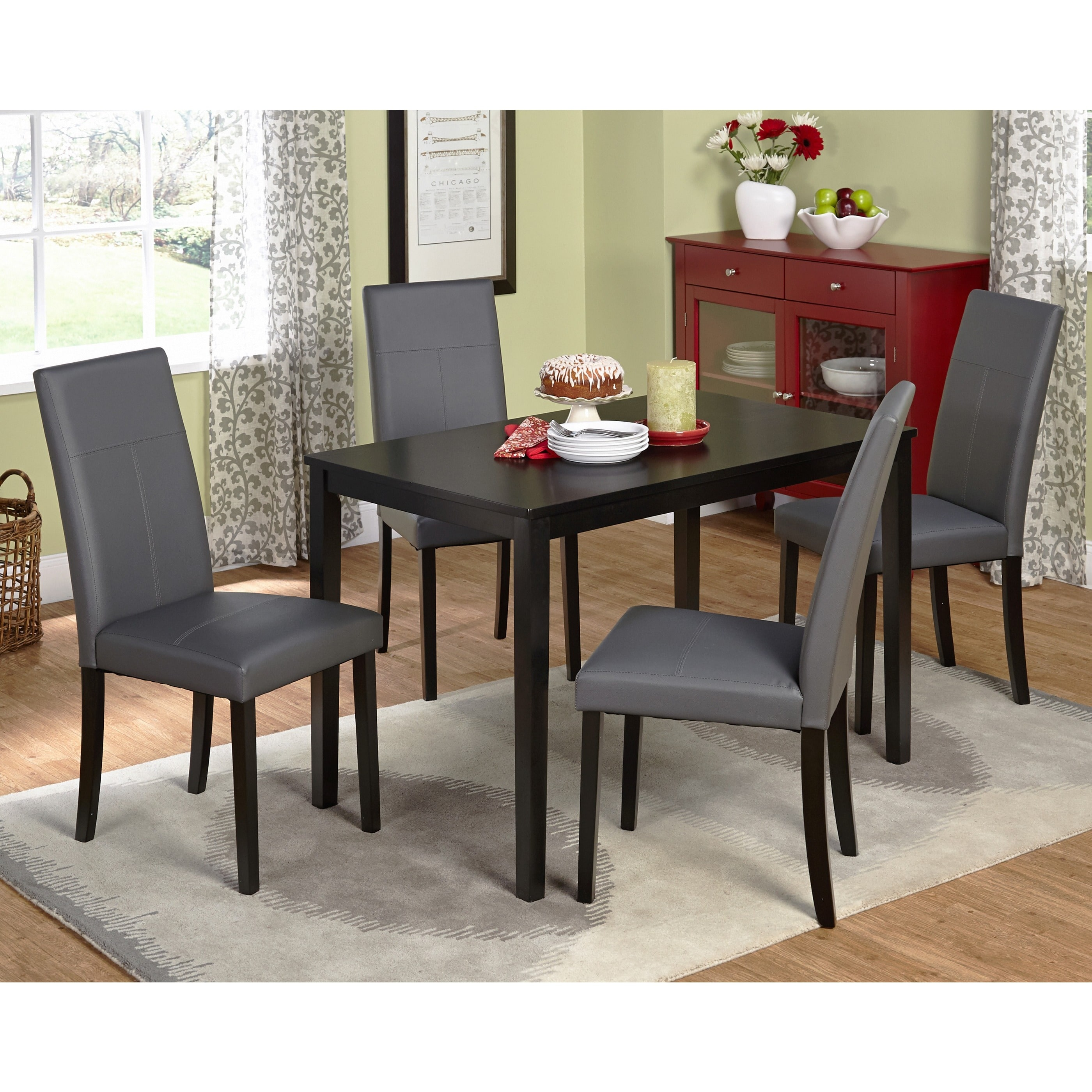 Simple Living Bettega Parson Five Piece Dining Set   Free Shipping Today    Overstock   14998513