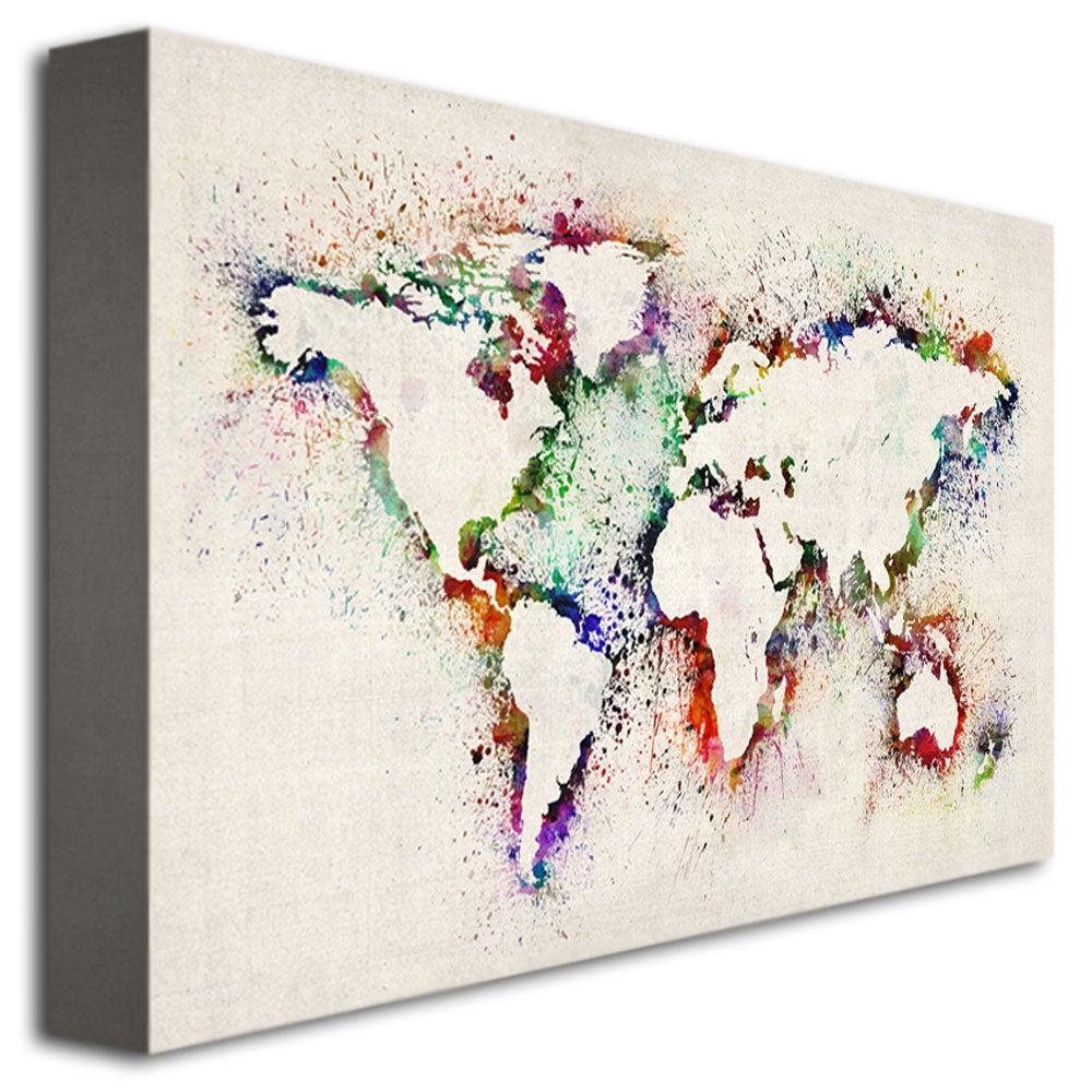 Michael tompsett world map paint splashes medium canvas art michael tompsett world map paint splashes medium canvas art multi free shipping today overstock 14999086 gumiabroncs Choice Image