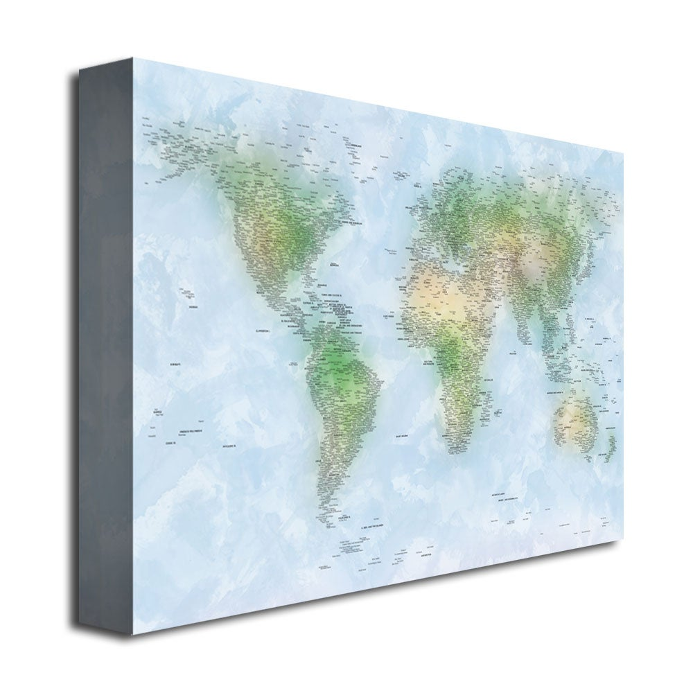 Michael tompsett watercolor cities world map canvas art free michael tompsett watercolor cities world map canvas art free shipping today overstock 14999113 gumiabroncs Choice Image
