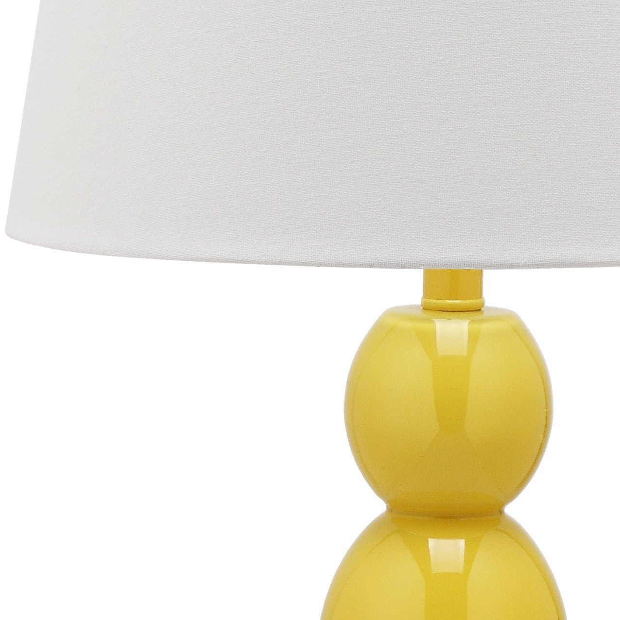 Shop Safavieh Lighting 27.5 Inch Jayne Three Sphere Glass Yellow Table Lamp  (Set Of 2)   Free Shipping Today   Overstock.com   7570768