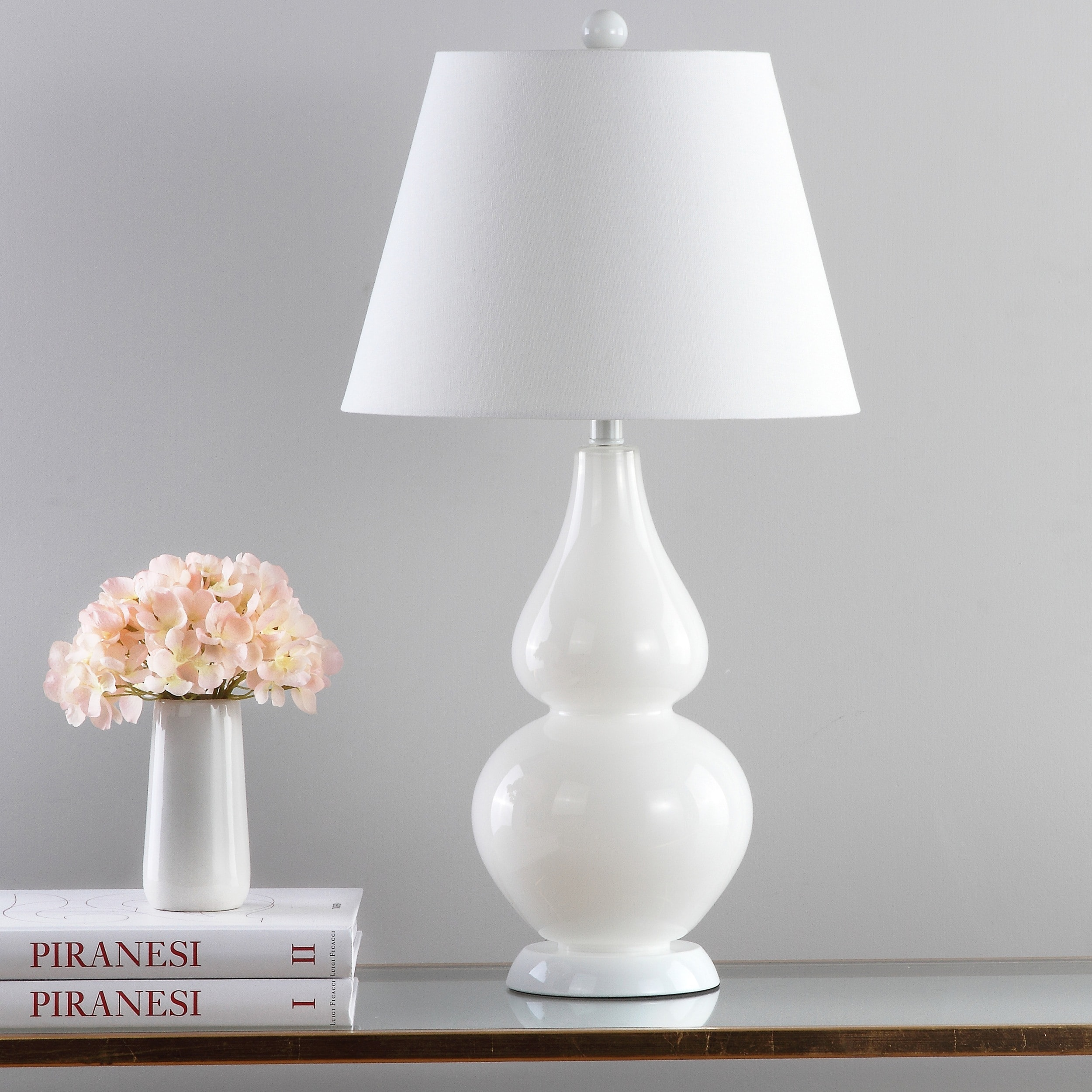 Lovely Safavieh Lighting 26.5 Inch Cybil Double Gourd White Table Lamp (Set Of 2)    Free Shipping Today   Overstock.com   15000017
