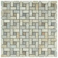 SomerTile 12x12-in Ridge Spiral Multi Sunset Stone Mosaic Tile (Pack of 5)
