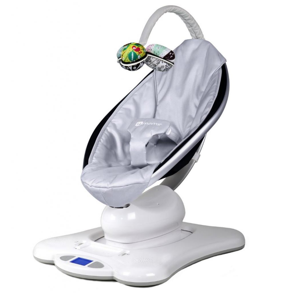 Shop 4moms Mamaroo Classic Silver Baby Bouncer Free Shipping Today