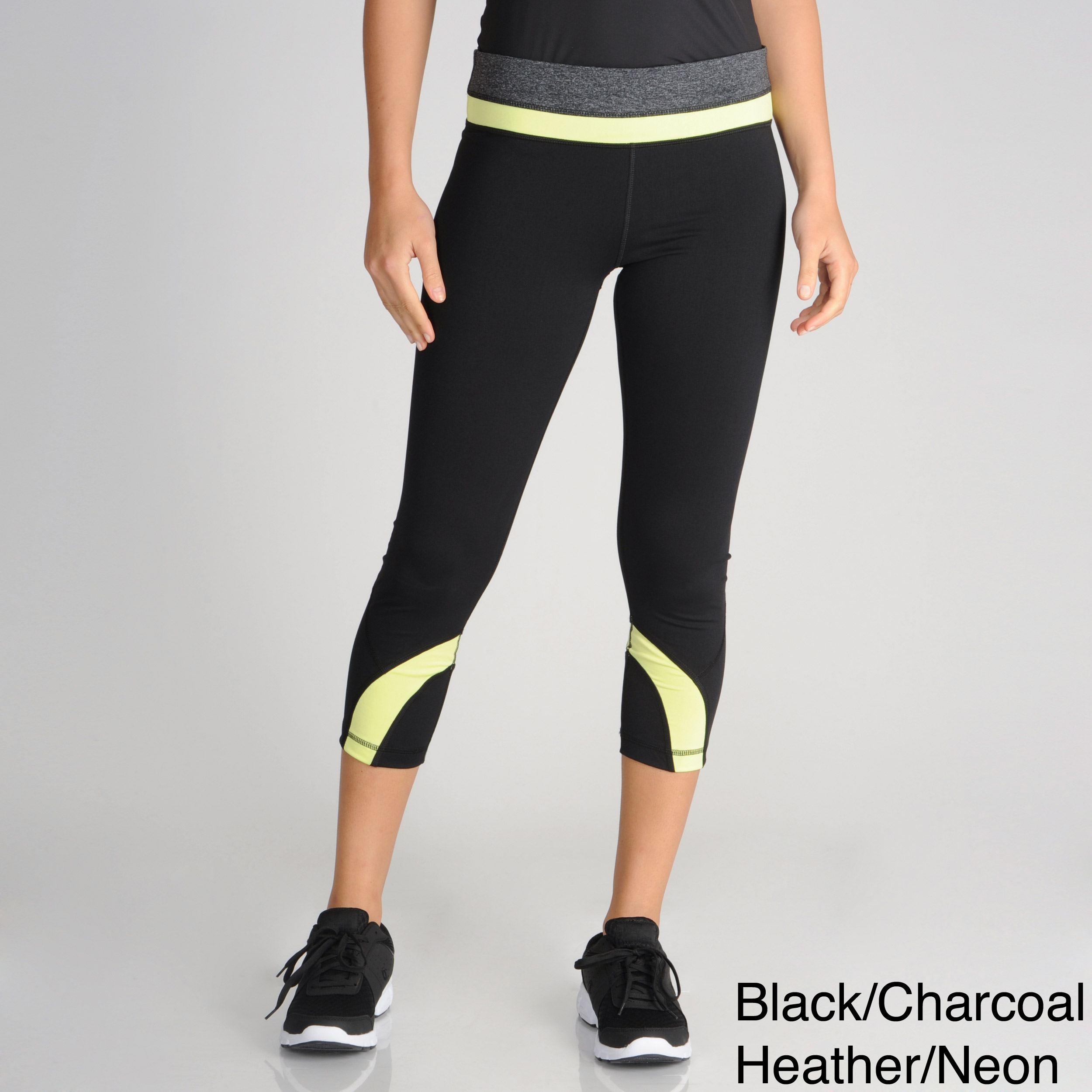 fdfbf723fffbe8 Shop 90 Degree by Reflex Women's Active Color-block Capris - Free Shipping  Today - Overstock - 7576776