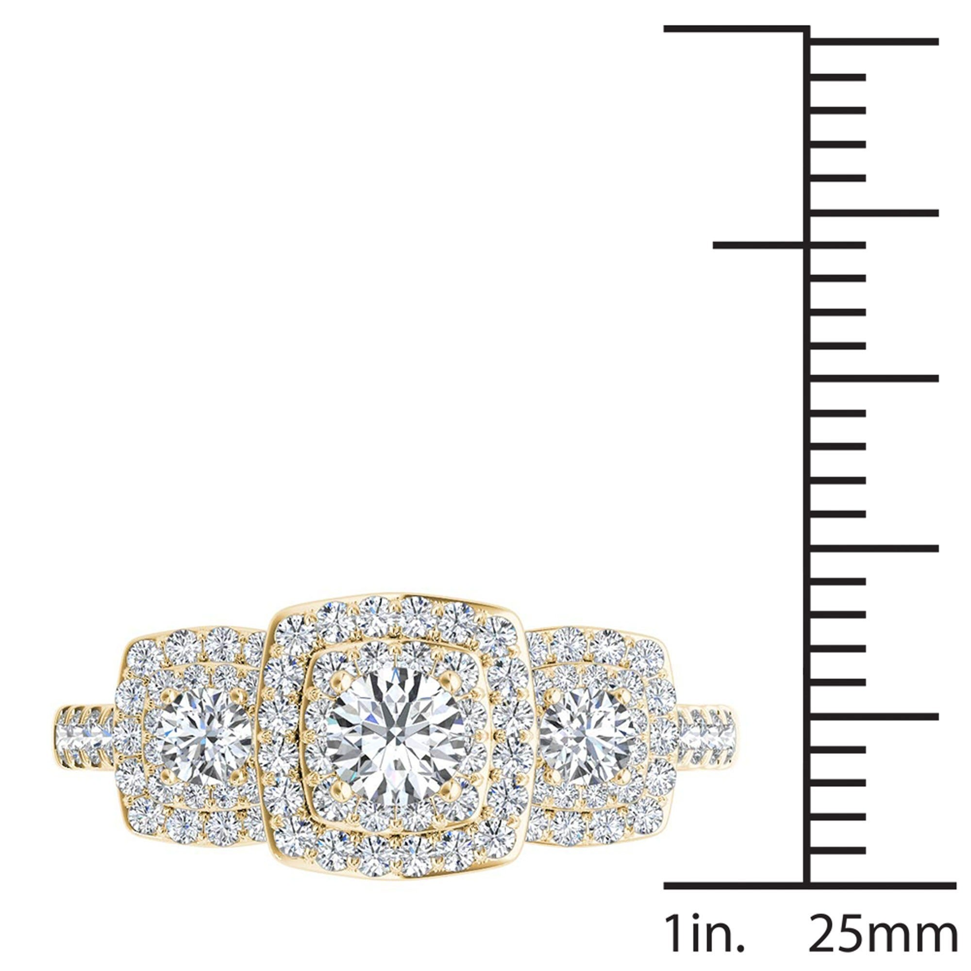 trek round gold one carat shop def with cut brilliant color diamonds halo side stones quality shank split d moissanite vvs and forever center e clarity ring f engagement rose diamond