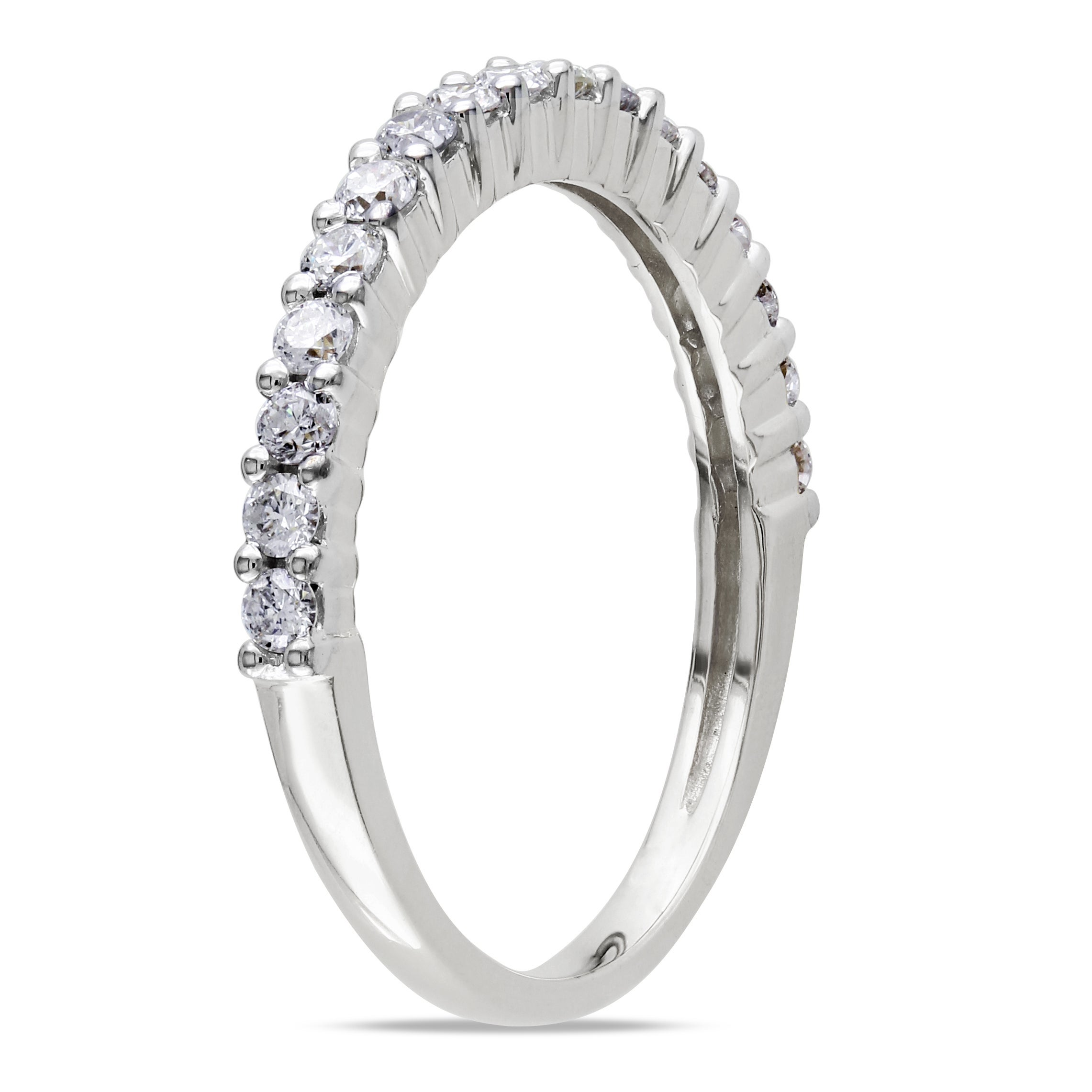 henri halo wedding round stone diamond band bands daussi seven