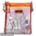 Nicole Lee 'Layla' Midnight in Paris Print Messenger Bag