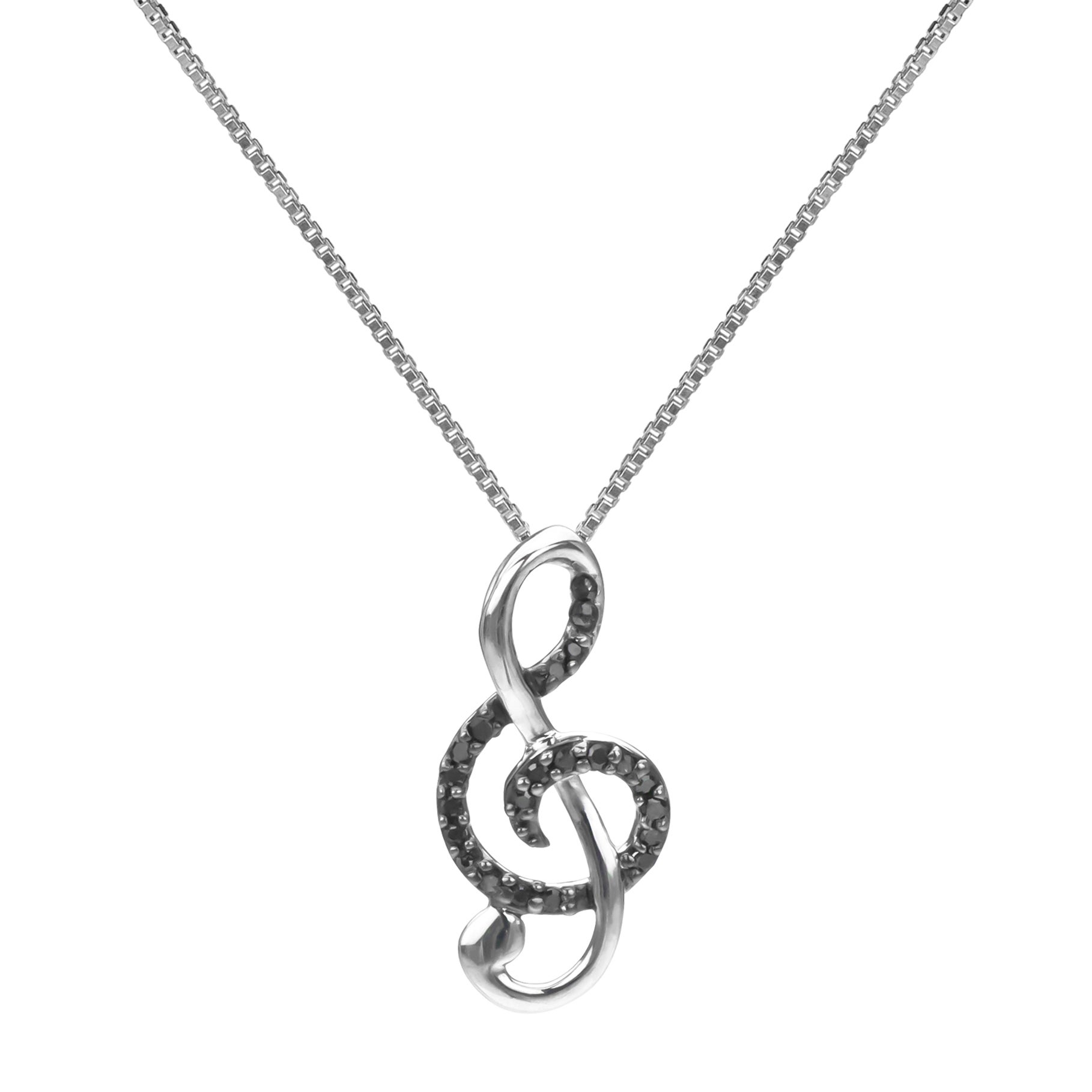 music silver heart itm sterling pendant jewelry musical note necklac love apotie