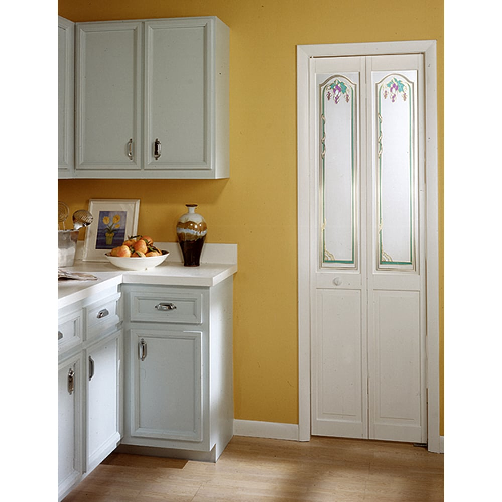 Grapevine Decorative Glass Bifold Door - Free Shipping Today ...