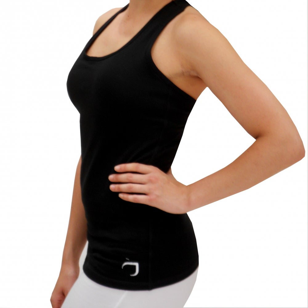 532a97e407255 Shop Cotton Racerback Tank Top with Built-in Bra - Free Shipping Today -  Overstock - 7585822