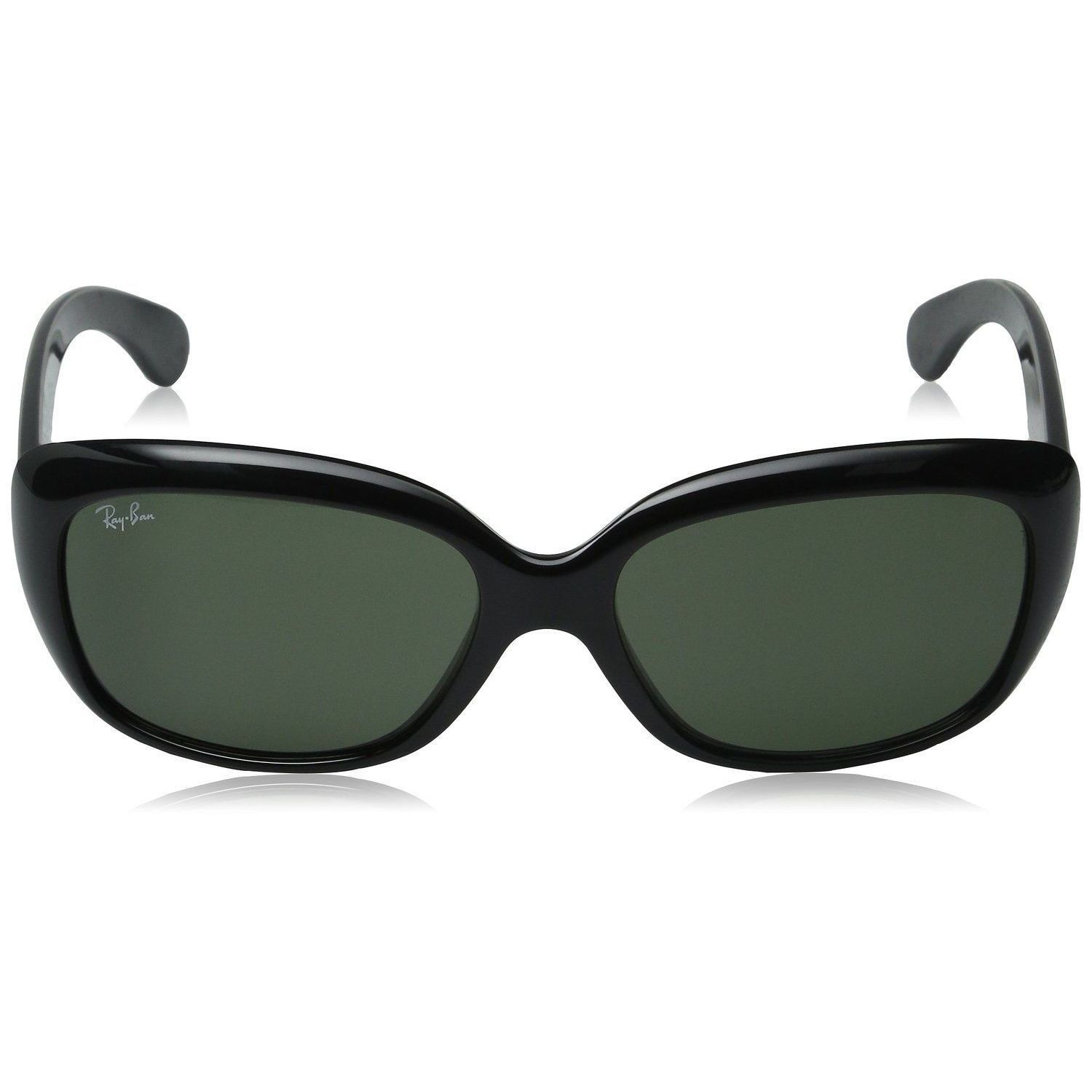 bf1f063b6a Shop Ray-Ban Jackie Ohh RB4101 Women s Black Frame Green Lens Sunglasses -  Free Shipping Today - Overstock - 7586054