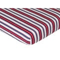 Sweet JoJo Designs Stripe Print Nautical Nights Fitted Crib Sheet