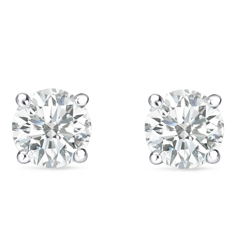 Auriya 14k Gold 1 Carat To 3ct Tdw Clarity Enhanced Round Diamond Stud Earrings On Free Shipping Today 7599352