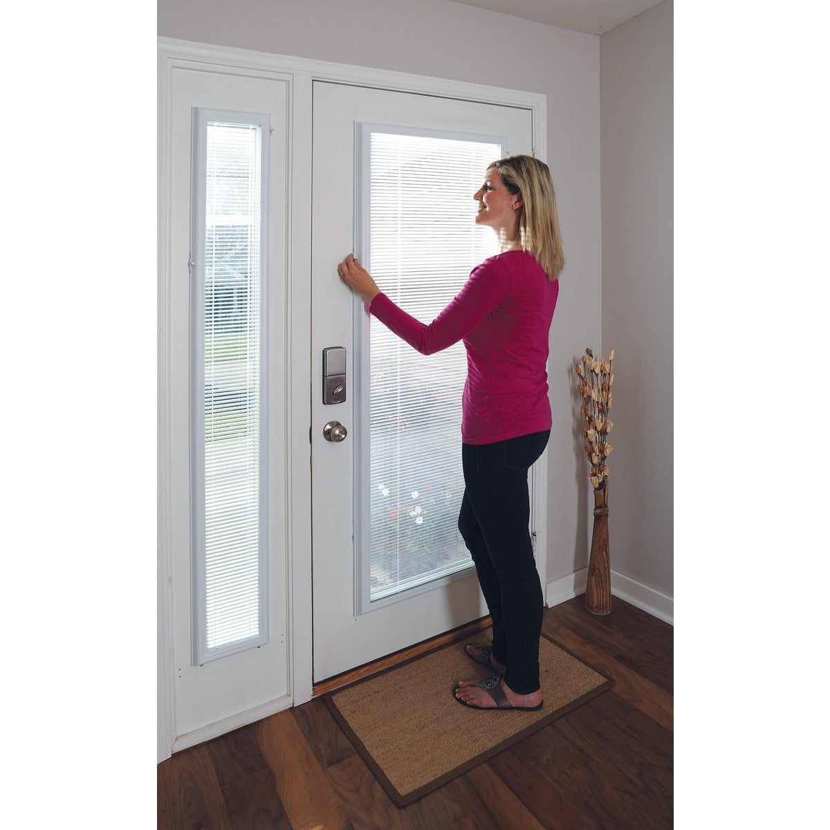 Superbe Shop White Enclosed Door Blinds (20 X 36)   20 X 36   Free Shipping Today    Overstock.com   7600176