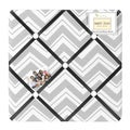 Sweet JoJo Designs Black and Gray Zig Zag Bulletin Board