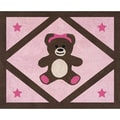 Sweet JoJo Designs Pink Teddy Bear Accent Floor Rug
