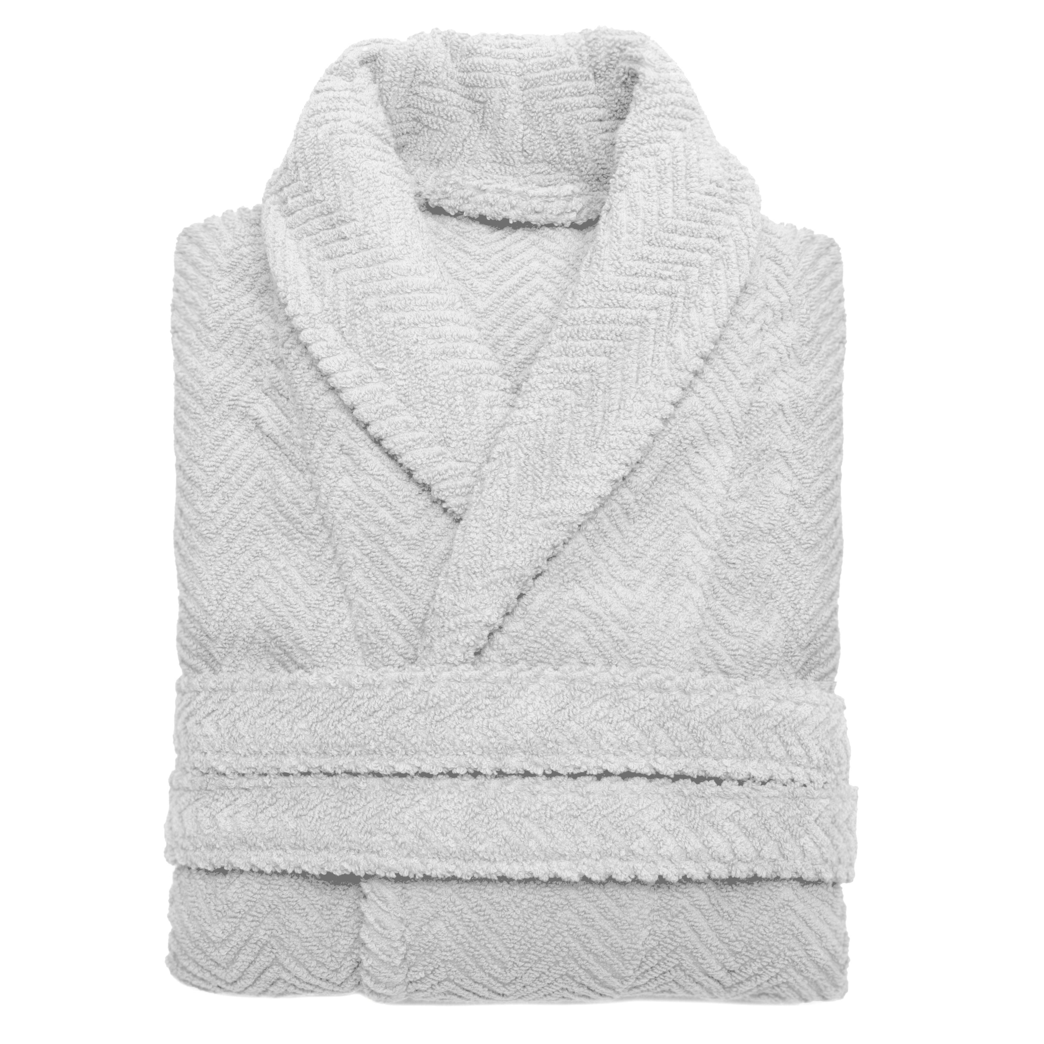 01e1b6db3fad Shop Authentic Hotel Spa Herringbone Weave Turkish Cotton Unisex Bath Robe  - On Sale - Free Shipping Today - Overstock - 7604182
