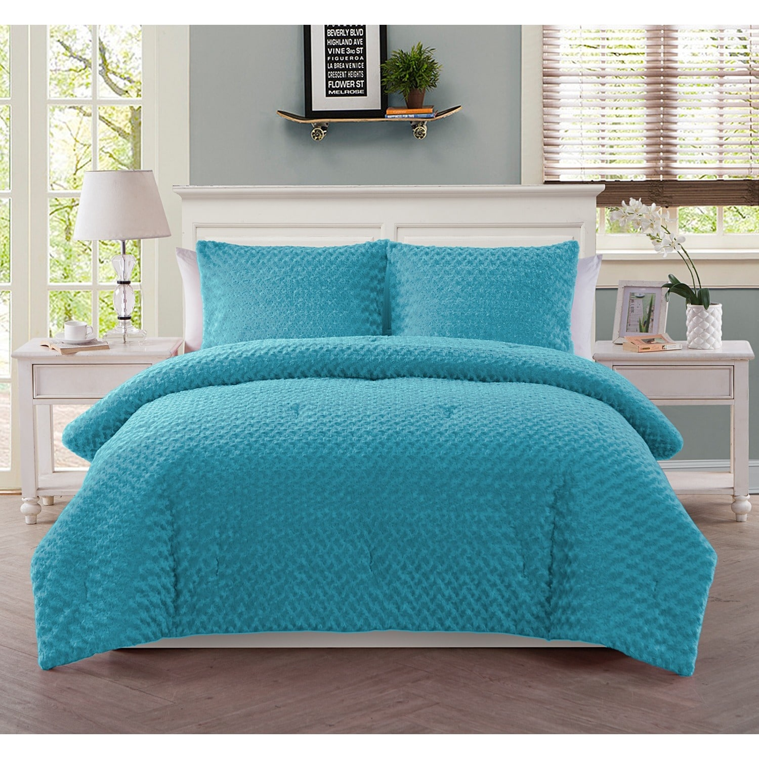 com your walmart comforter fur zone ip long set bedding fuzzy