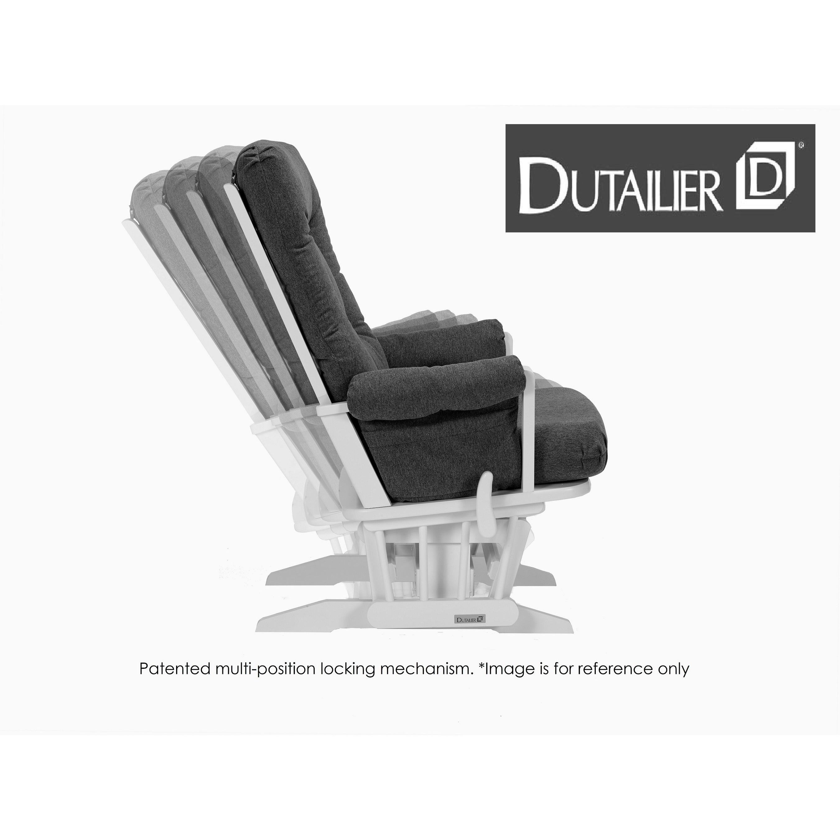 shop dutailier dark grey multiposition reclining sleigh glider and