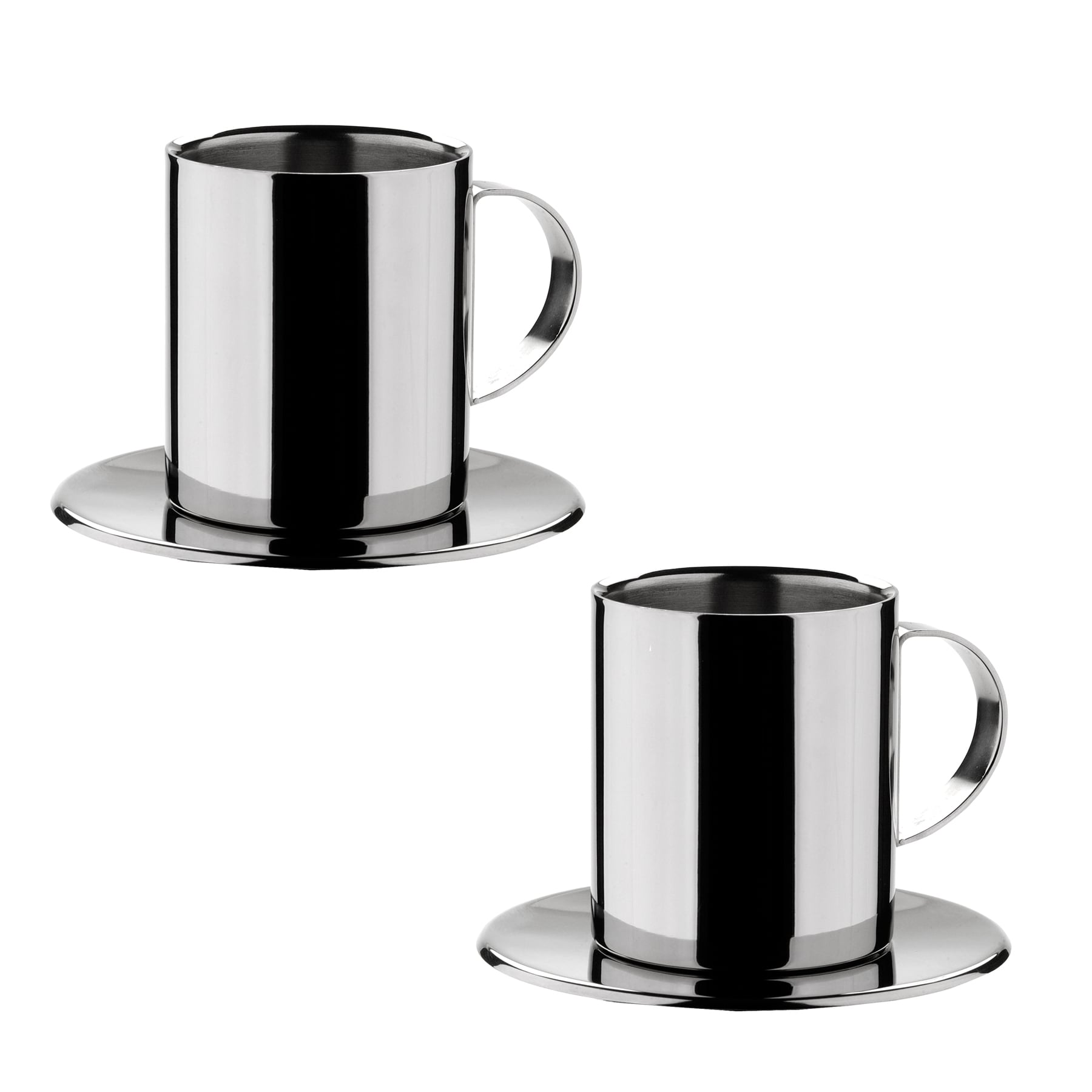 Miu France Stainless Steel Cuccino Cups Set Of 2 Free Shipping On Orders Over 45 7605243