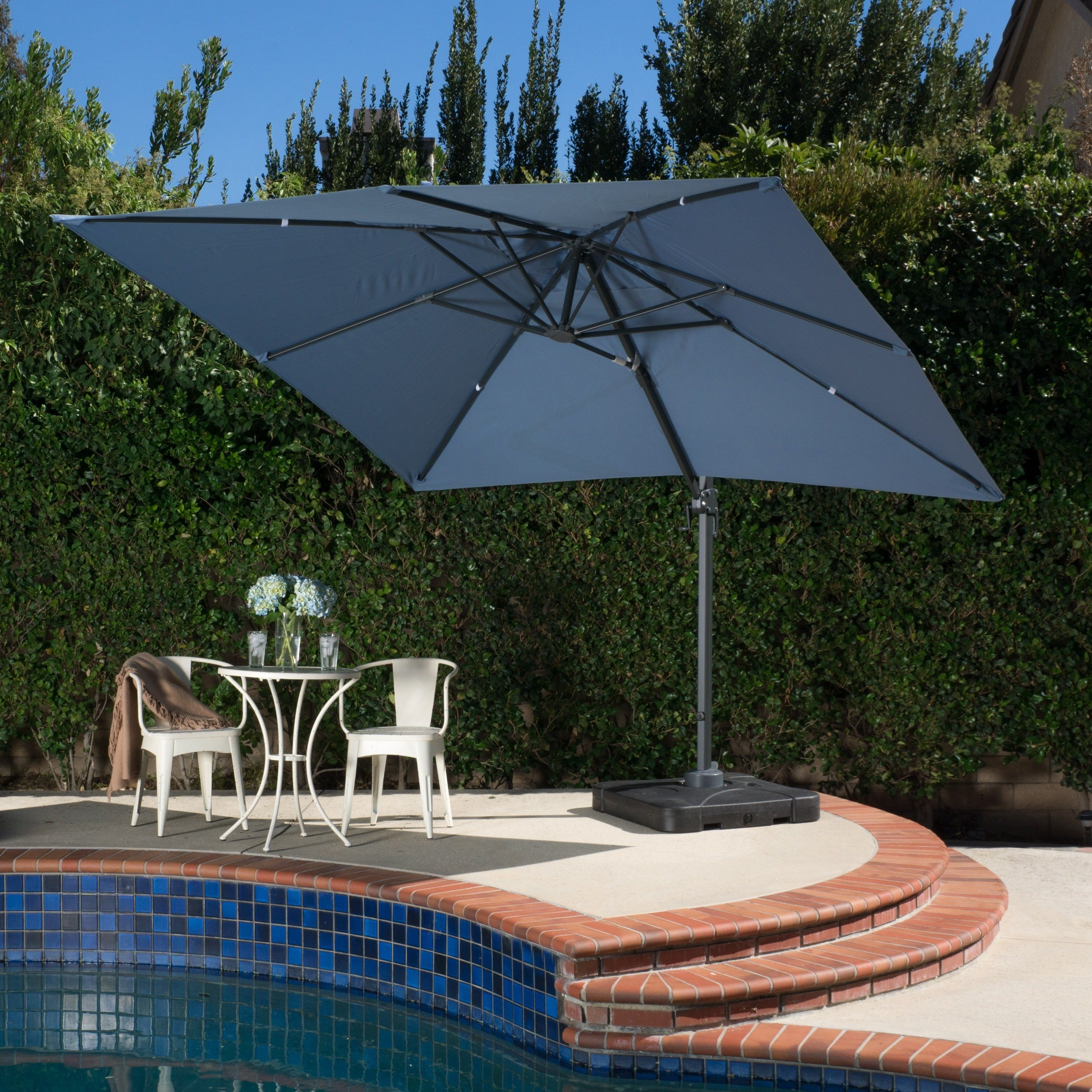 Shop Outdoor Geneva 9\'8-foot Canopy Umbrella with Stand by ...