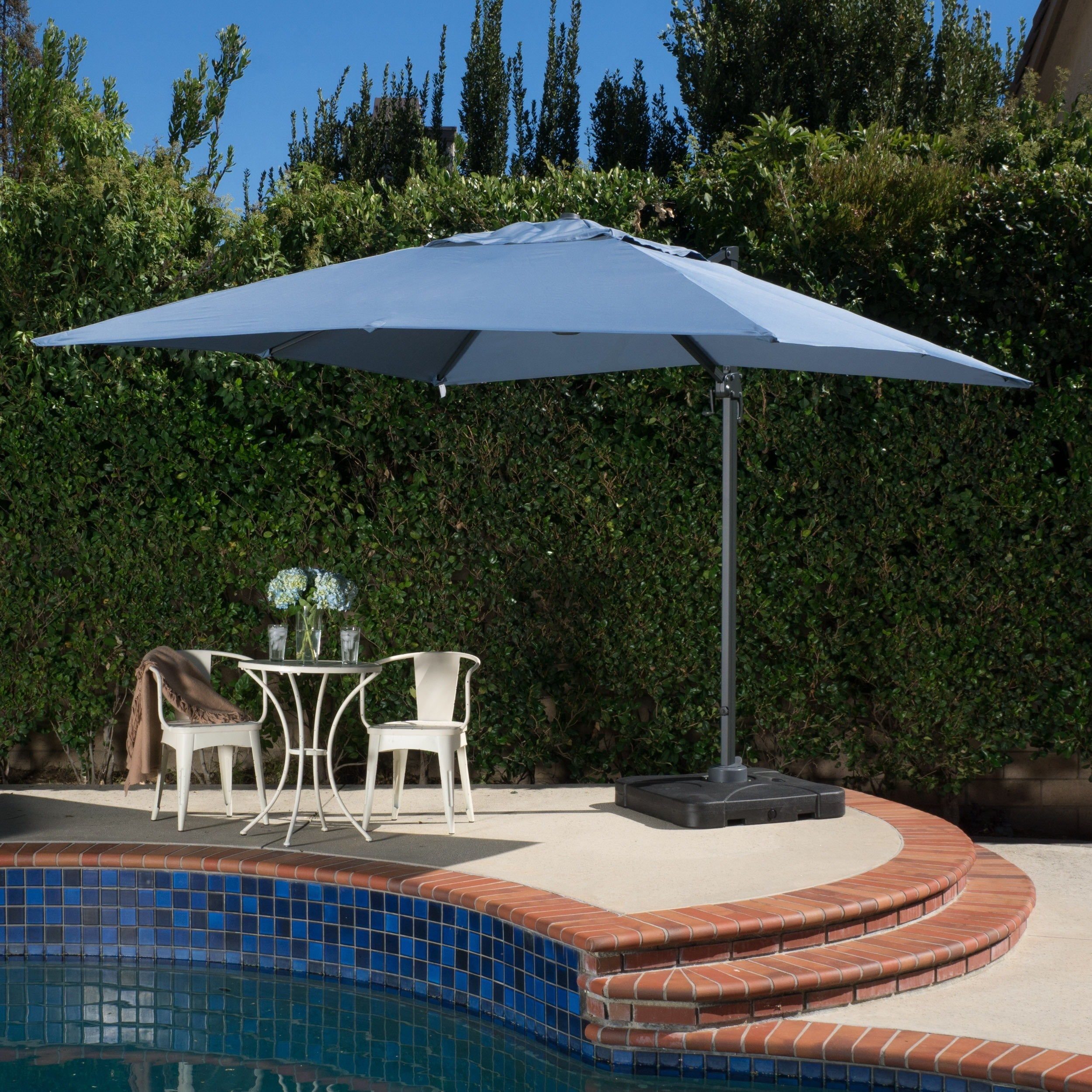 Shop Outdoor Geneva 9u00278 Foot Canopy Umbrella With Stand By Christopher  Knight Home   On Sale   Free Shipping Today   Overstock.com   7613044