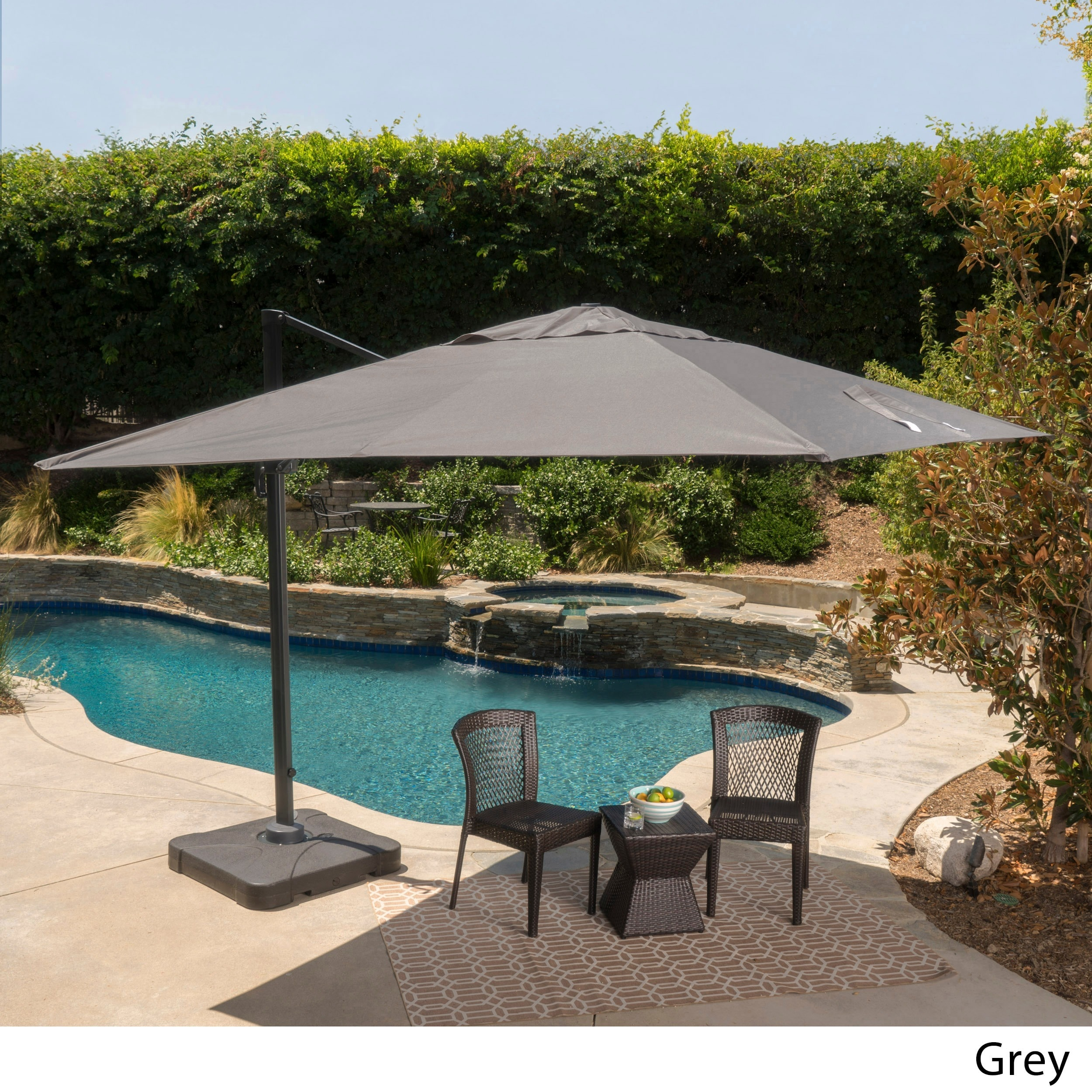 Superbe Shop Outdoor Geneva 9u00278 Foot Canopy Umbrella With Stand By Christopher  Knight Home   Free Shipping Today   Overstock.com   7613044
