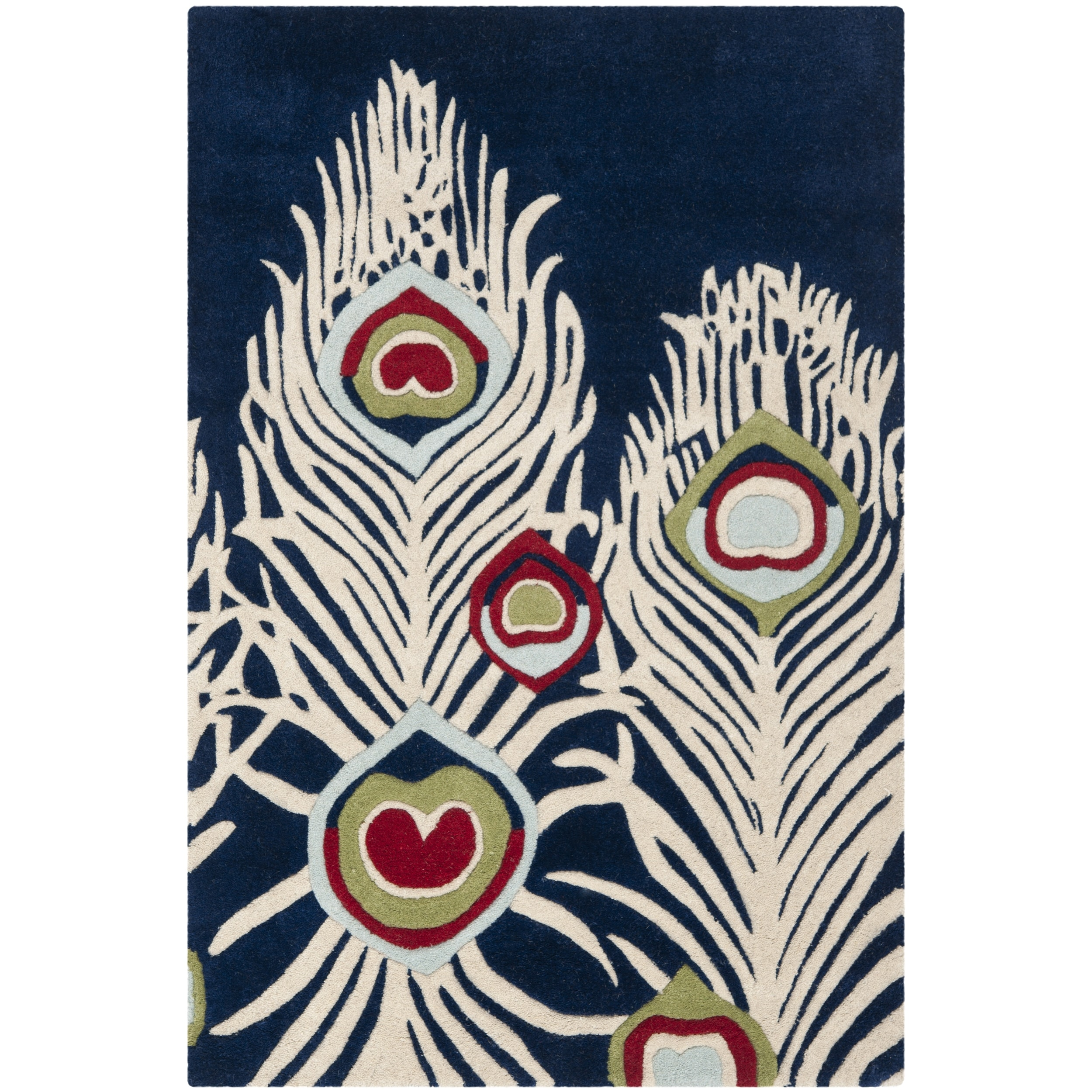 Safavieh Handmade Pea Feathers Blue New Zealand Wool Rug On Free Shipping Orders Over 45 Com 7617658