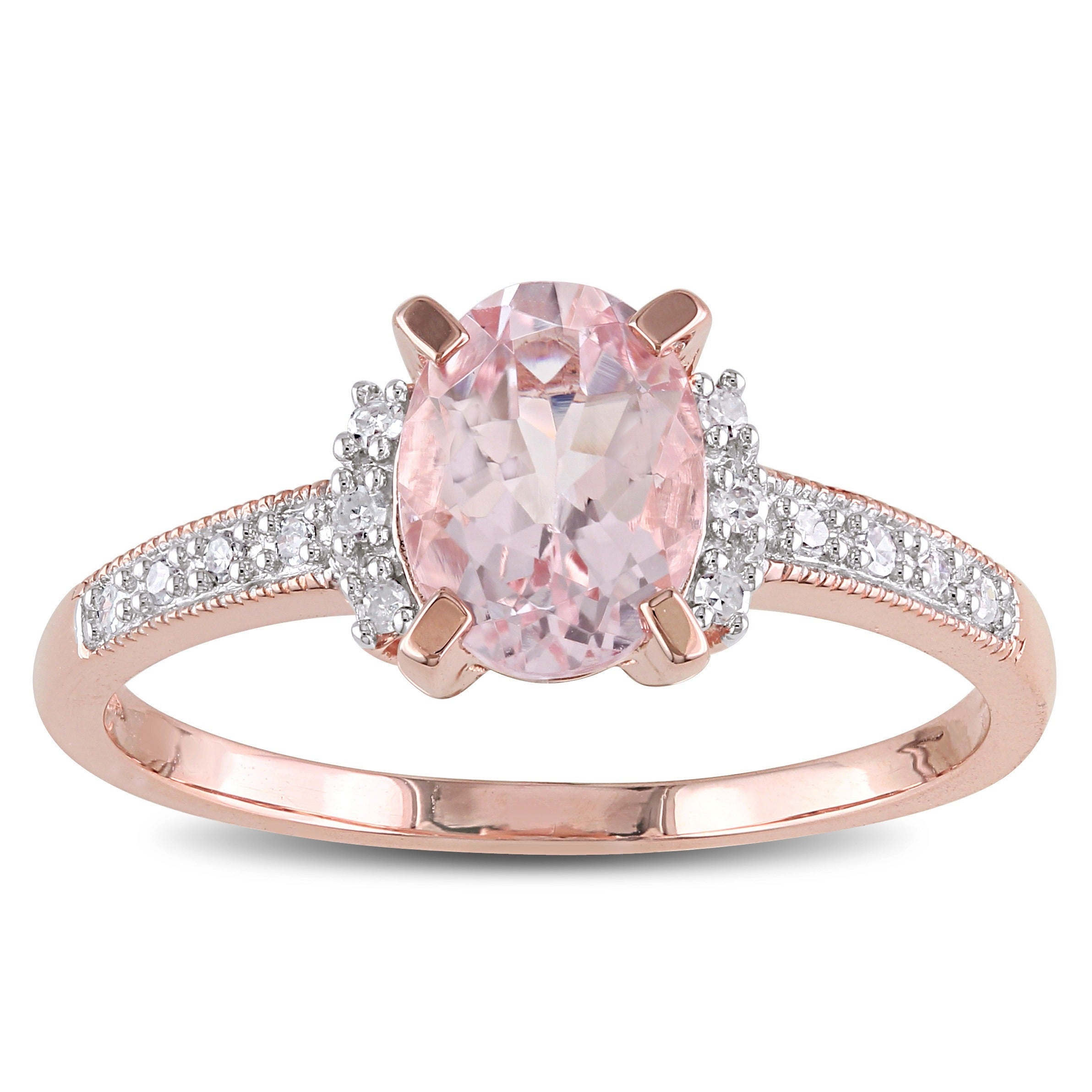 overstock ct tw miadora tdw halo ring pink gh tgw shipping stone rings gold product free jewelry engagement fashion morganite diamond watches today rose and