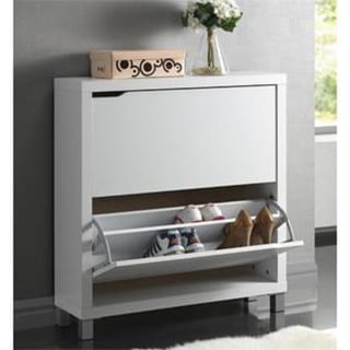 Good Baxton Studio U0027Marshau0027 Modern Double Shoe Cabinet   Free Shipping Today    Overstock.com   15039138