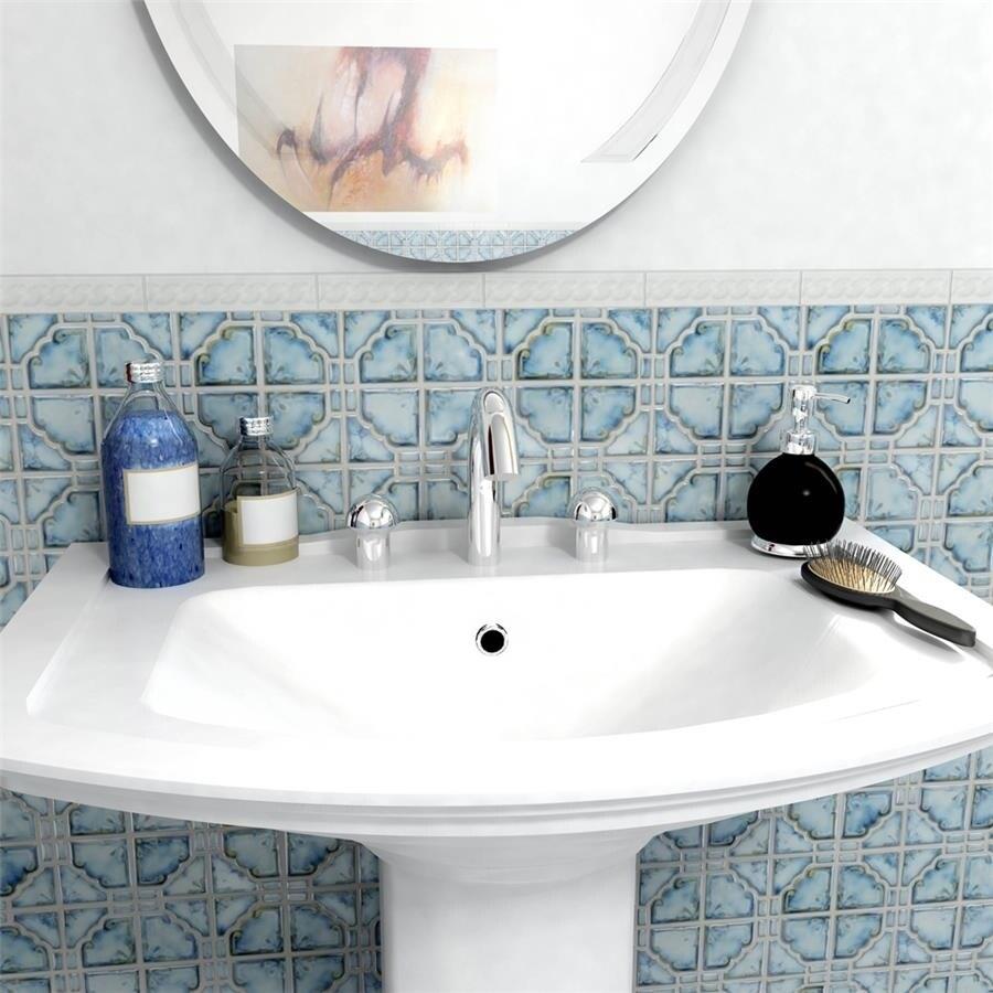 Shop SomerTile 11.75x11.75-inch Luna Diva Blue Porcelain Mosaic ...