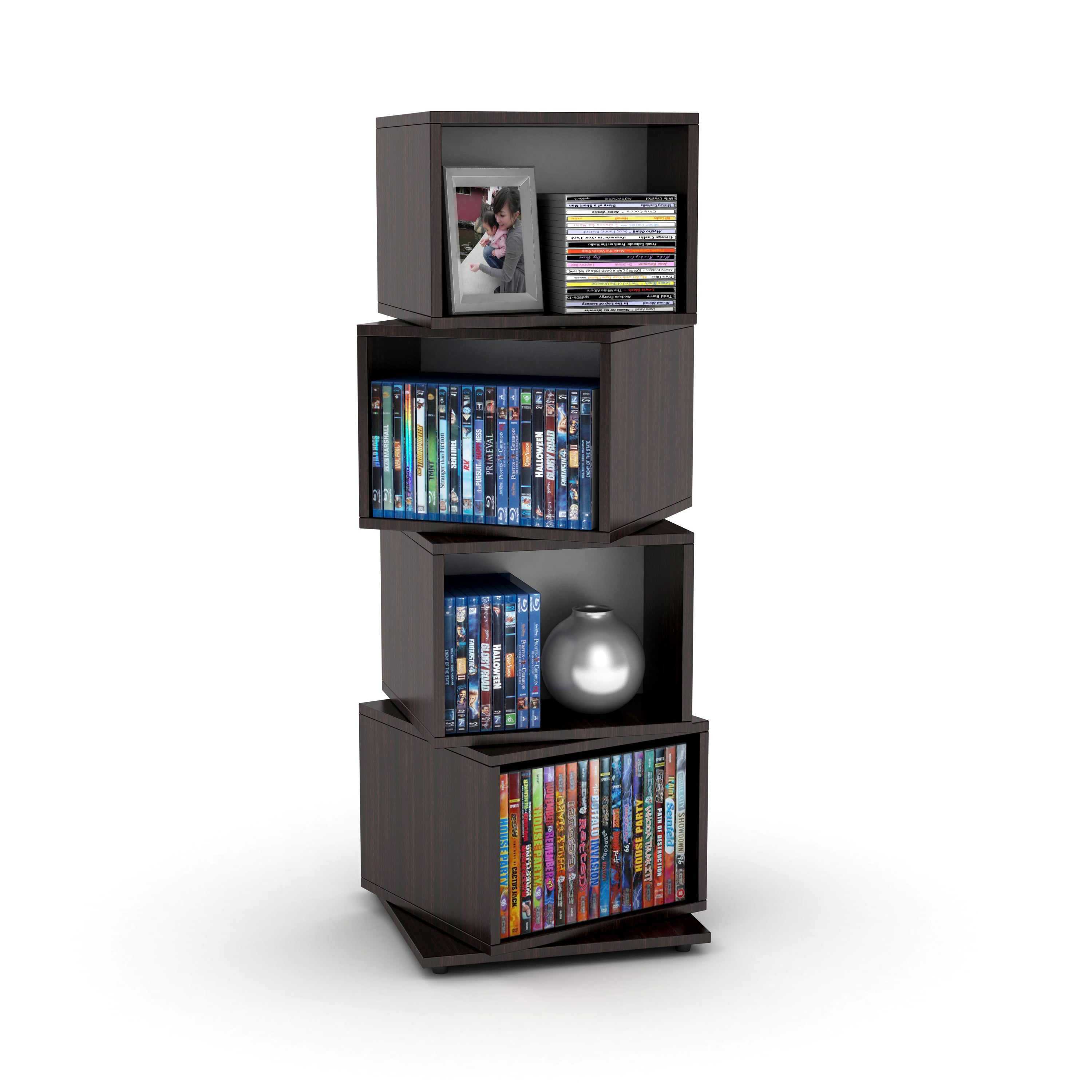 Rotating Cube Media Tower - Free Shipping Today - Overstock.com - 15045847